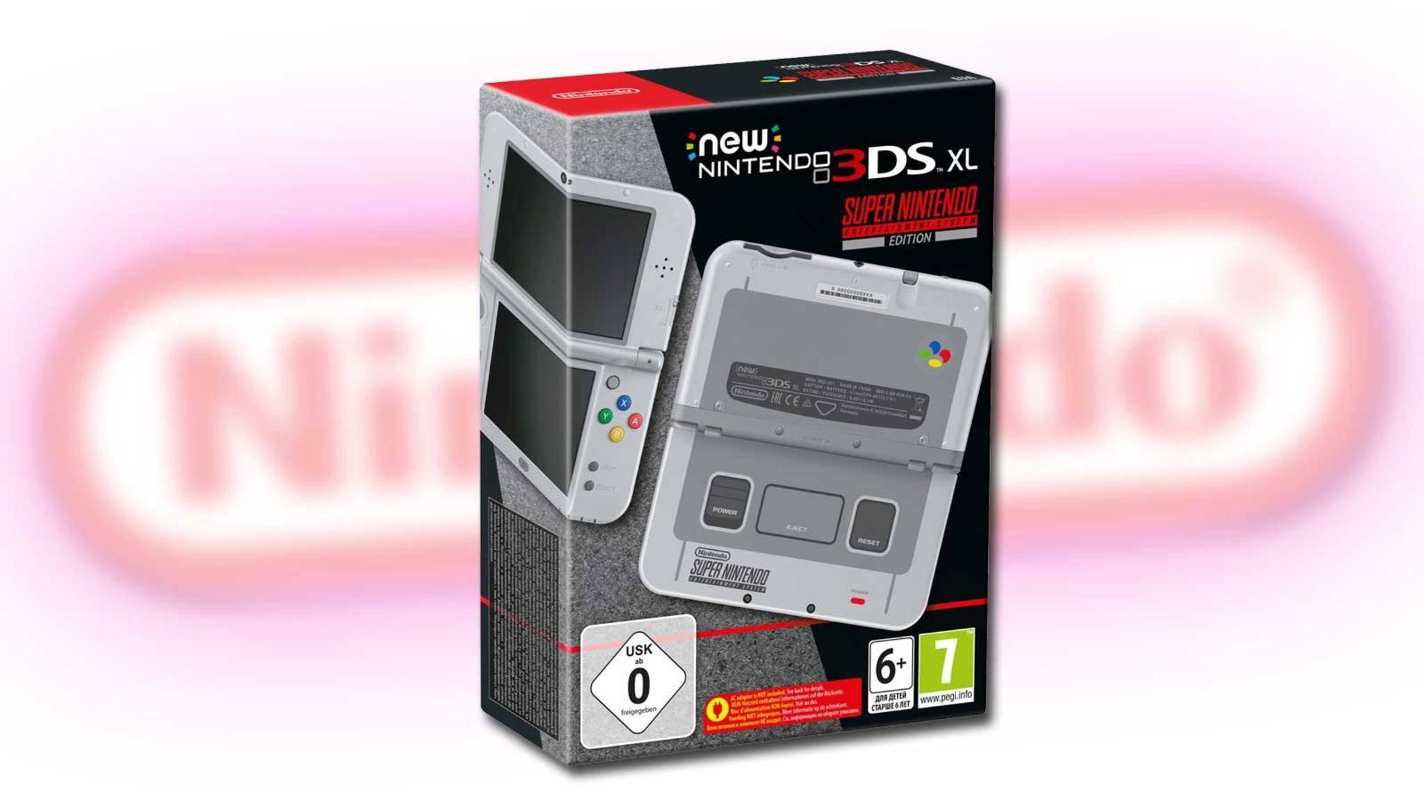 Retro sei das Handheld! Der New Nintendo 3DS XL bekommt eine Variante im SNES-Design.