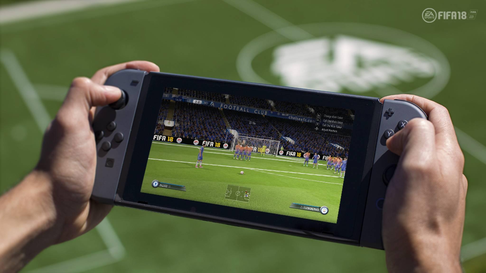 """""""FIFA 18"""" lässt sich demnächst auf der Nintendo Switch mitnehmen."""