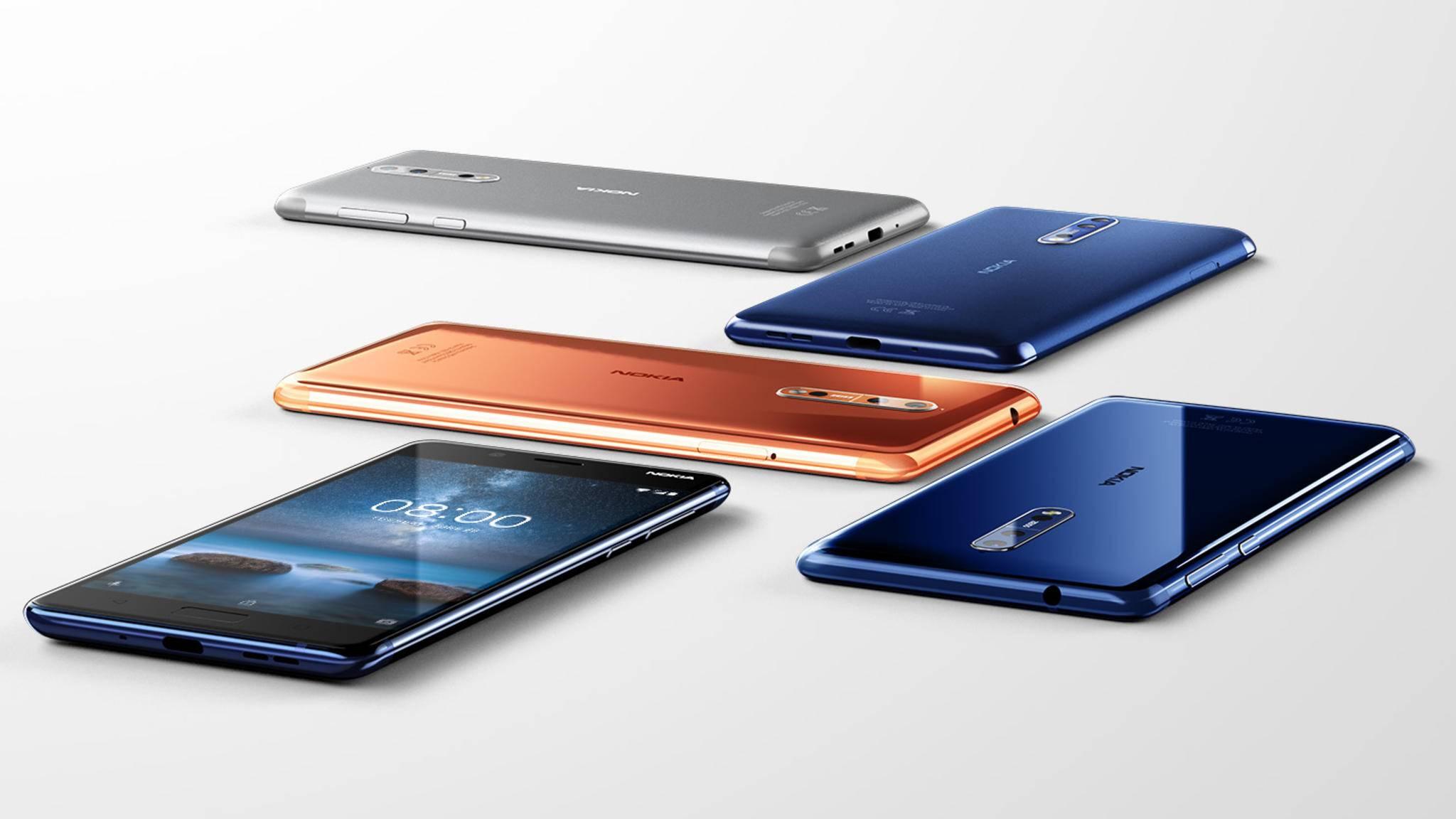 Das Nokia 8 ist da: Doch inwiefern unterscheidet sich das neue Modell eigentlich vom Nokia 6 und Nokia 3?