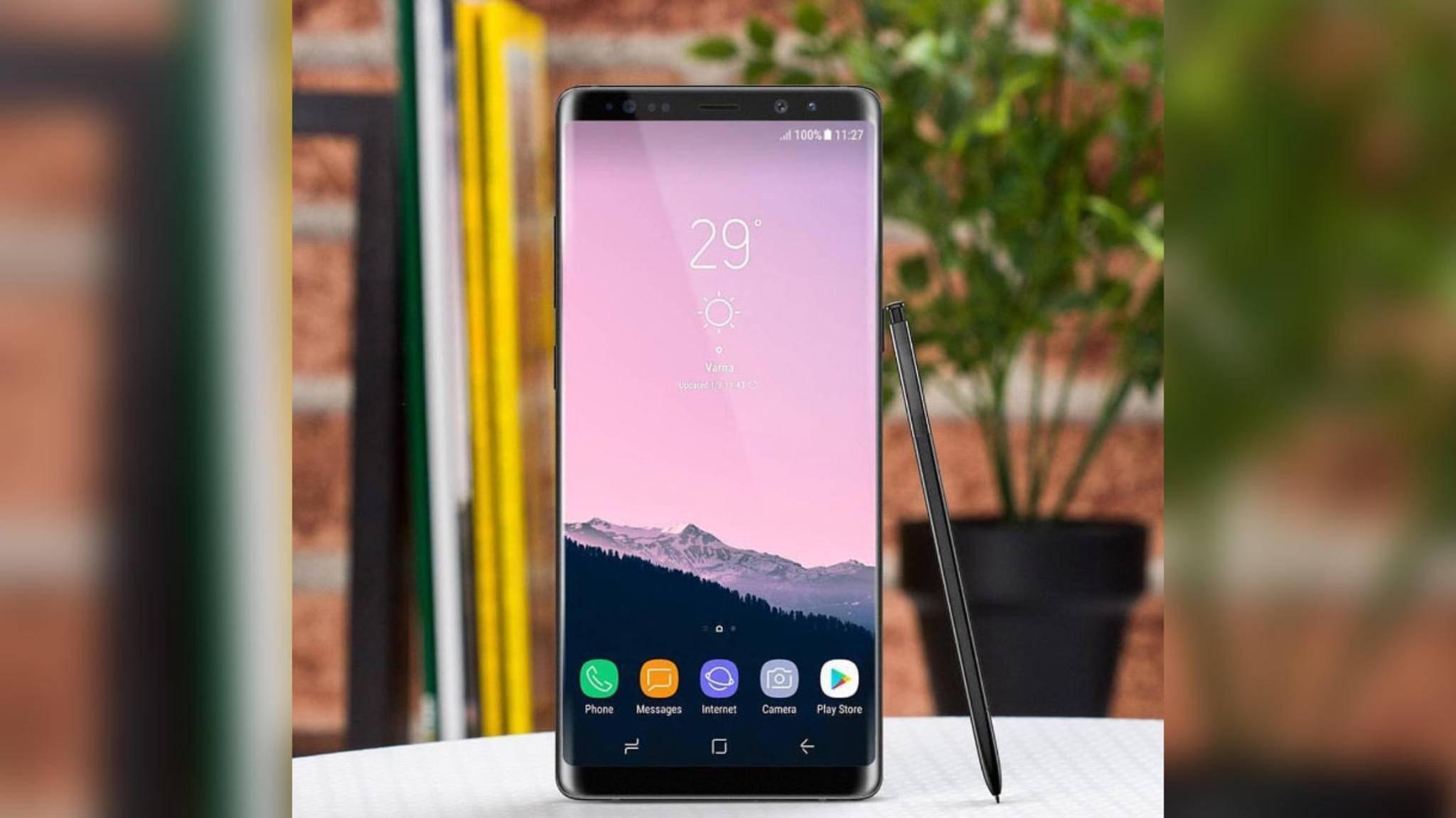 Das Note 8 ist noch nicht angekündigt, da gibt es schon Gerüchte zum Galaxy Note 9.