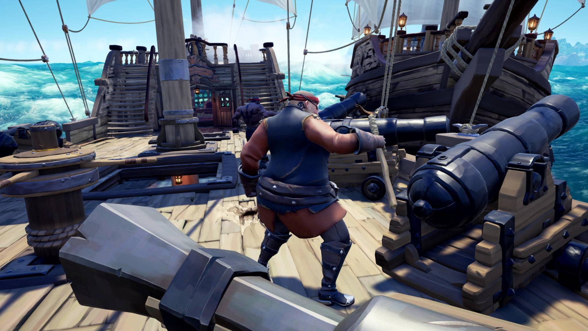 Auf dem Piratenschiff ist Zusammenarbeit gefragt – auch zwischen High-End-Konsoleros und Low-End-PC-Gamern!