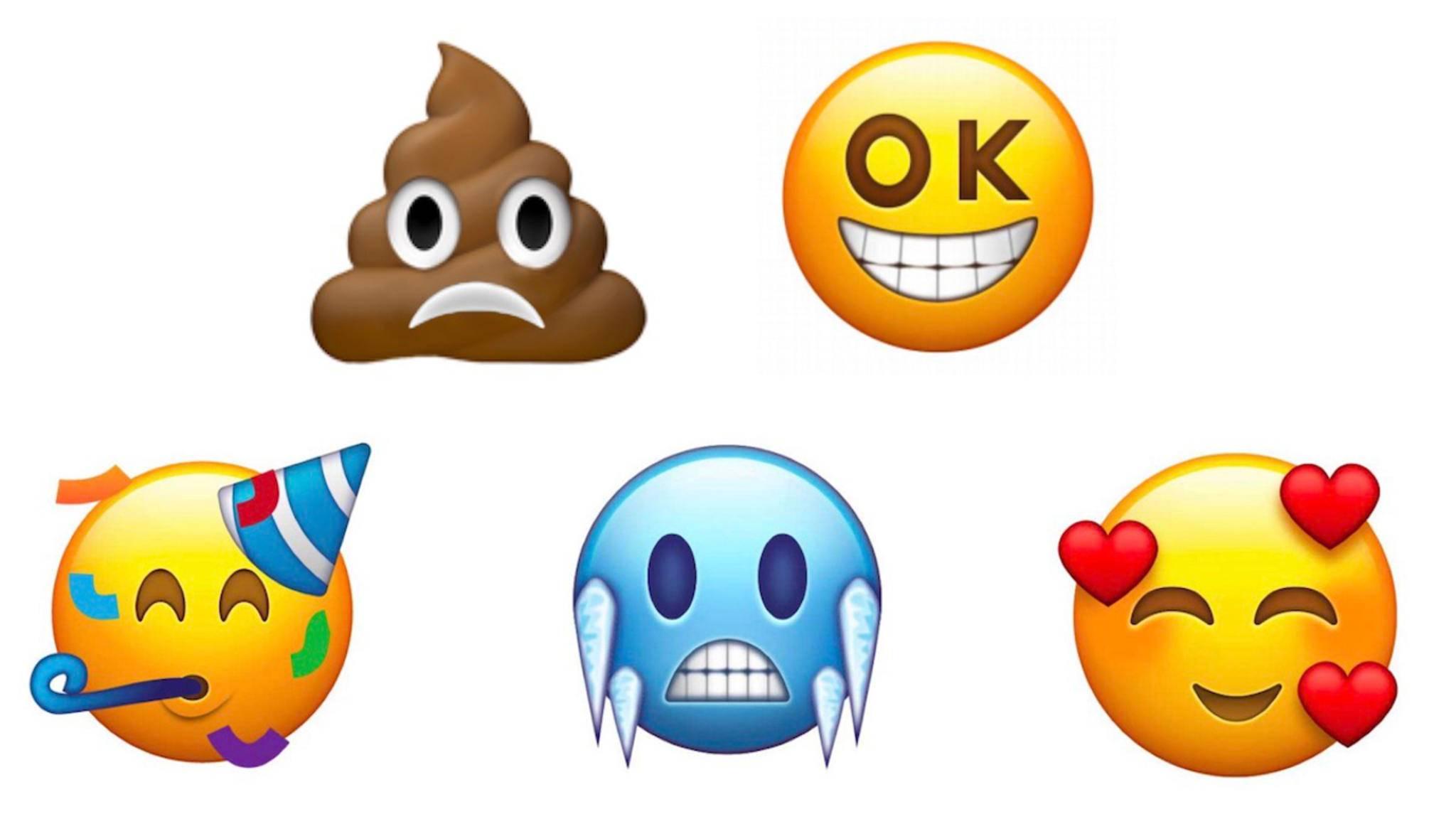 Diese Emojis könnten 2018 auf dem Smartphone herumschwirren.