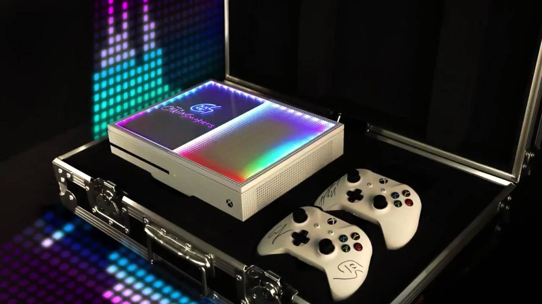 The Chainsmokers und Microsoft haben eine Disco-Xbox entworfen.
