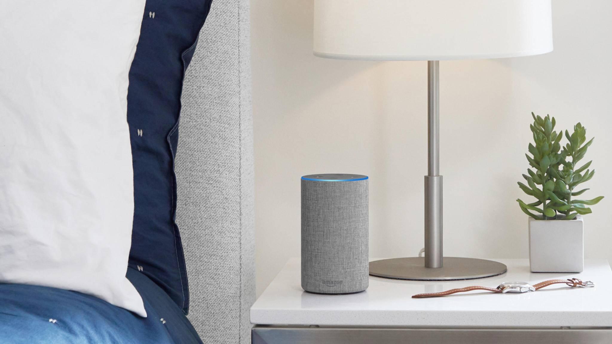 Amazon Echo beantwortet Fragen und befolgt Befehle.