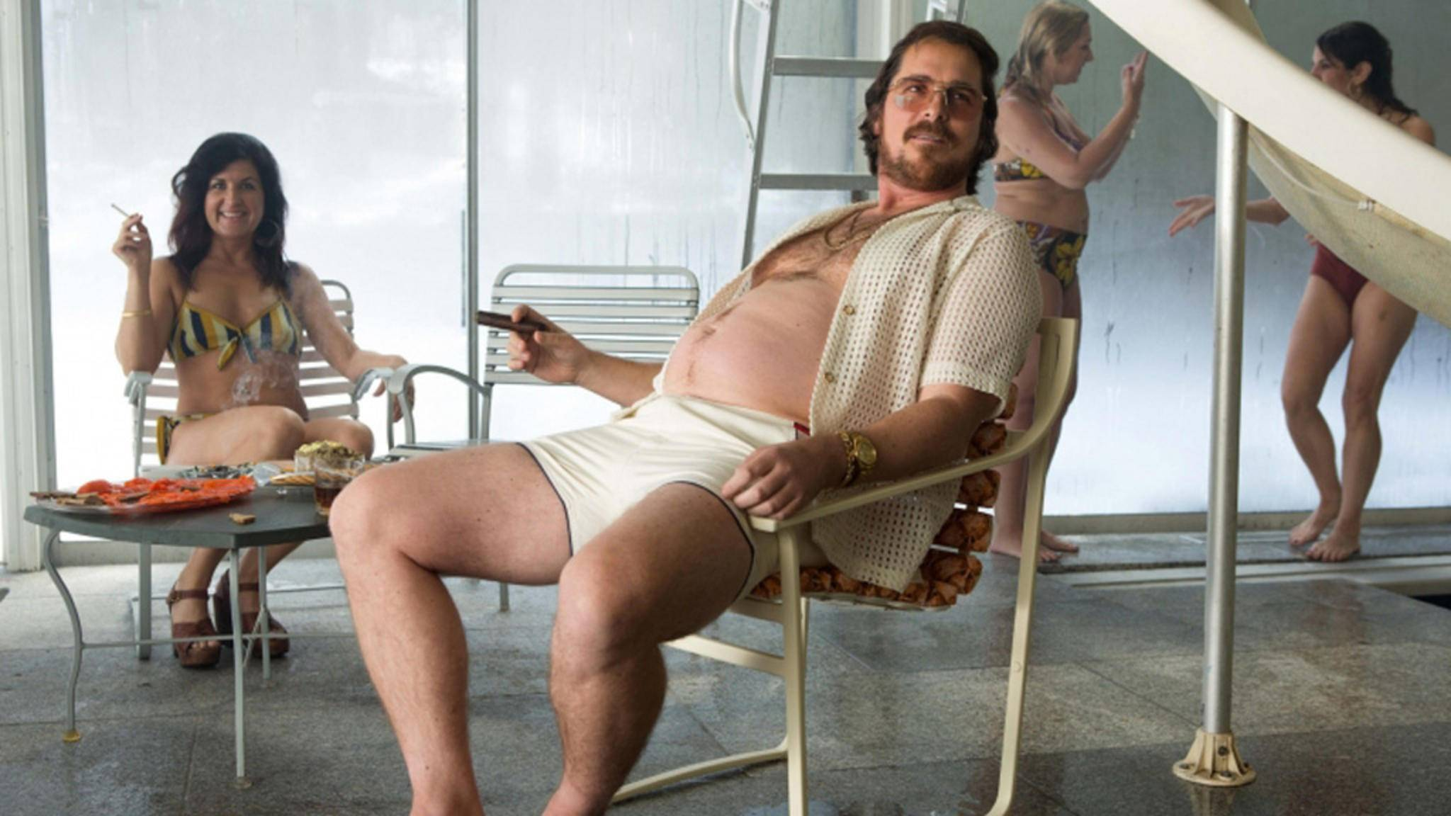 """Schon für die Krimikomödie """"American Hustle"""" legte Christian Bale deutlich an Gewicht zu."""