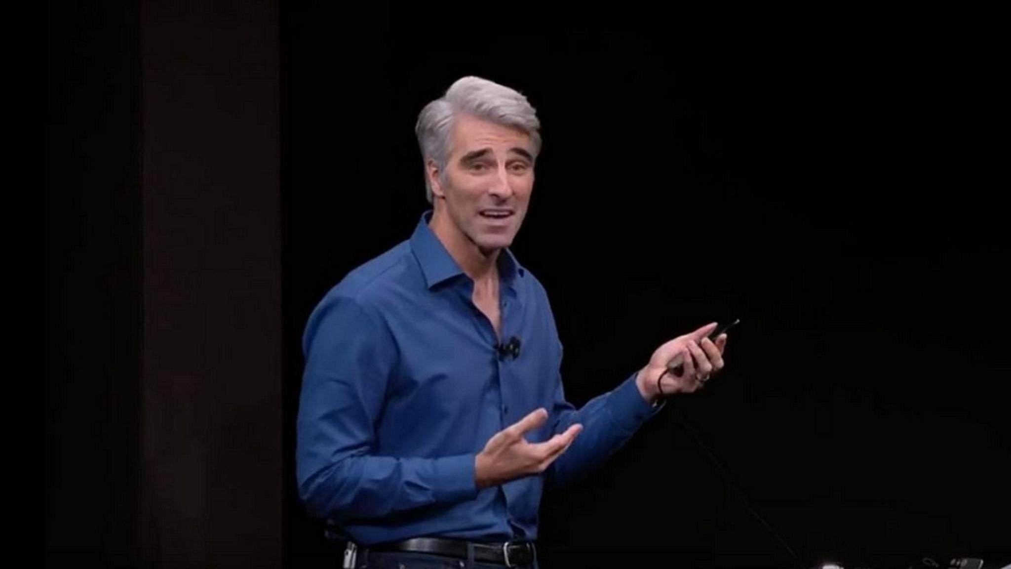 Craig Federighi hatte seine Probleme mit dem iPhone X und Face ID.