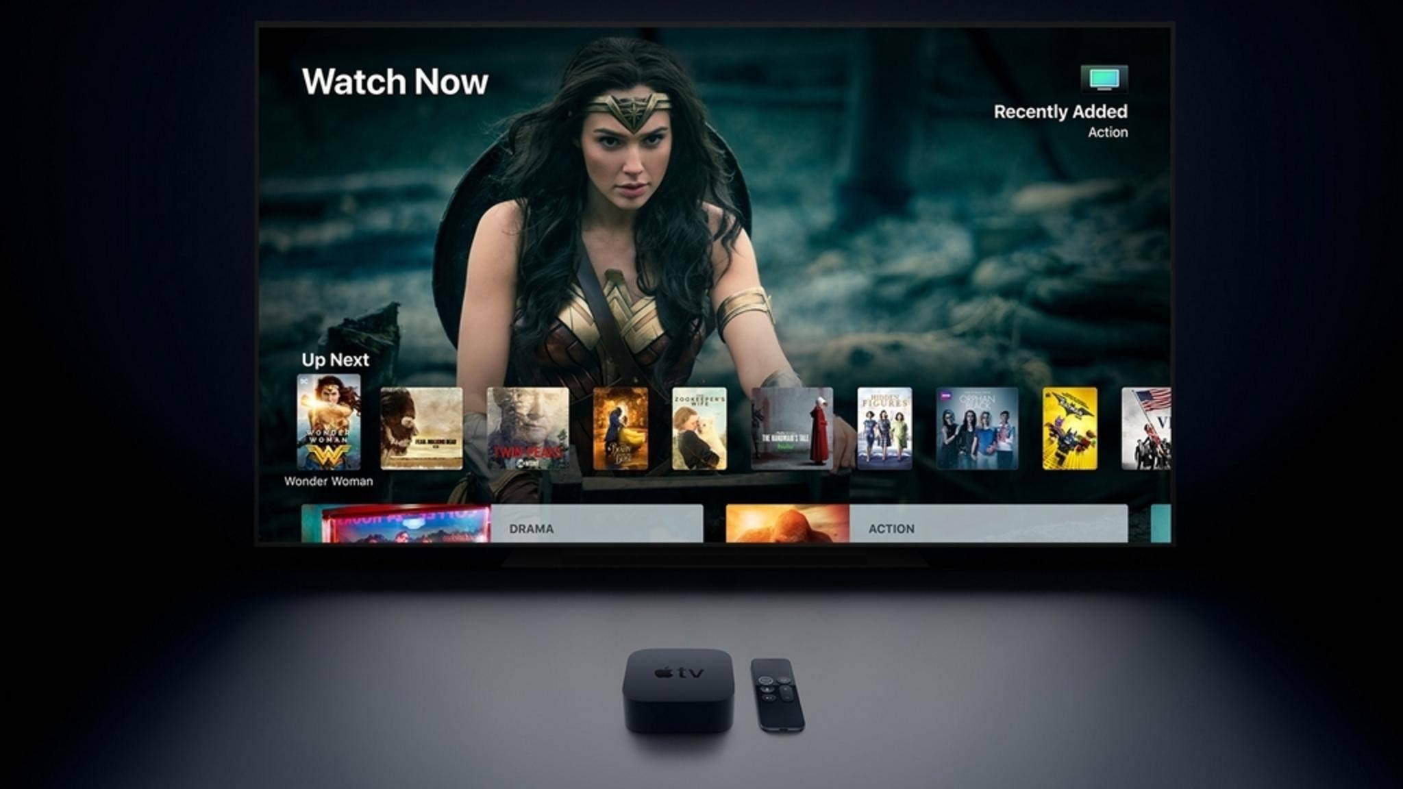 Inhalte vom iPhone wandern am einfachsten auf den Fernseher per Apple TV.