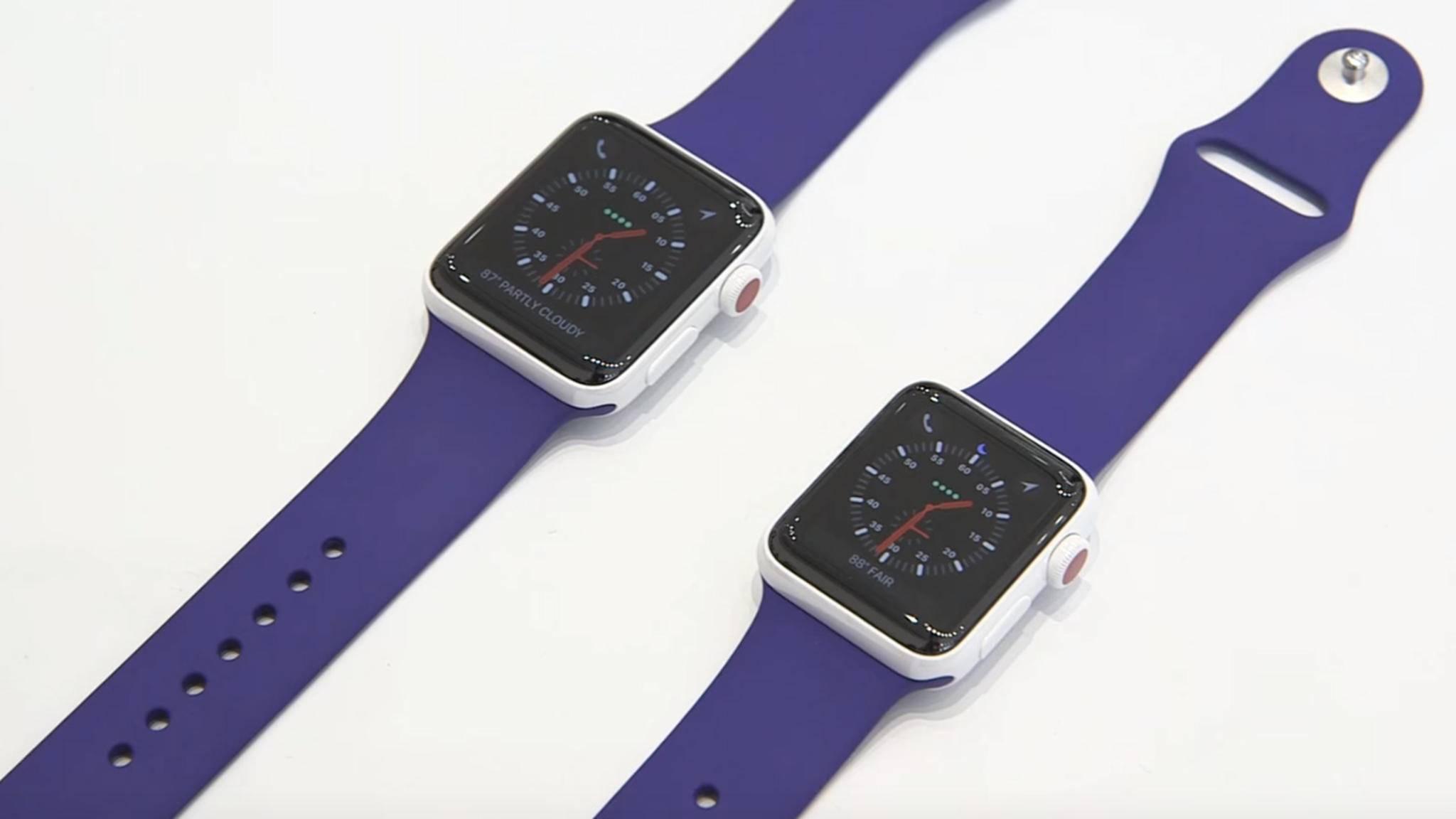 Die Apple Watch Series 3 bringt ein eigenes LTE-Modul und eSIM mit.