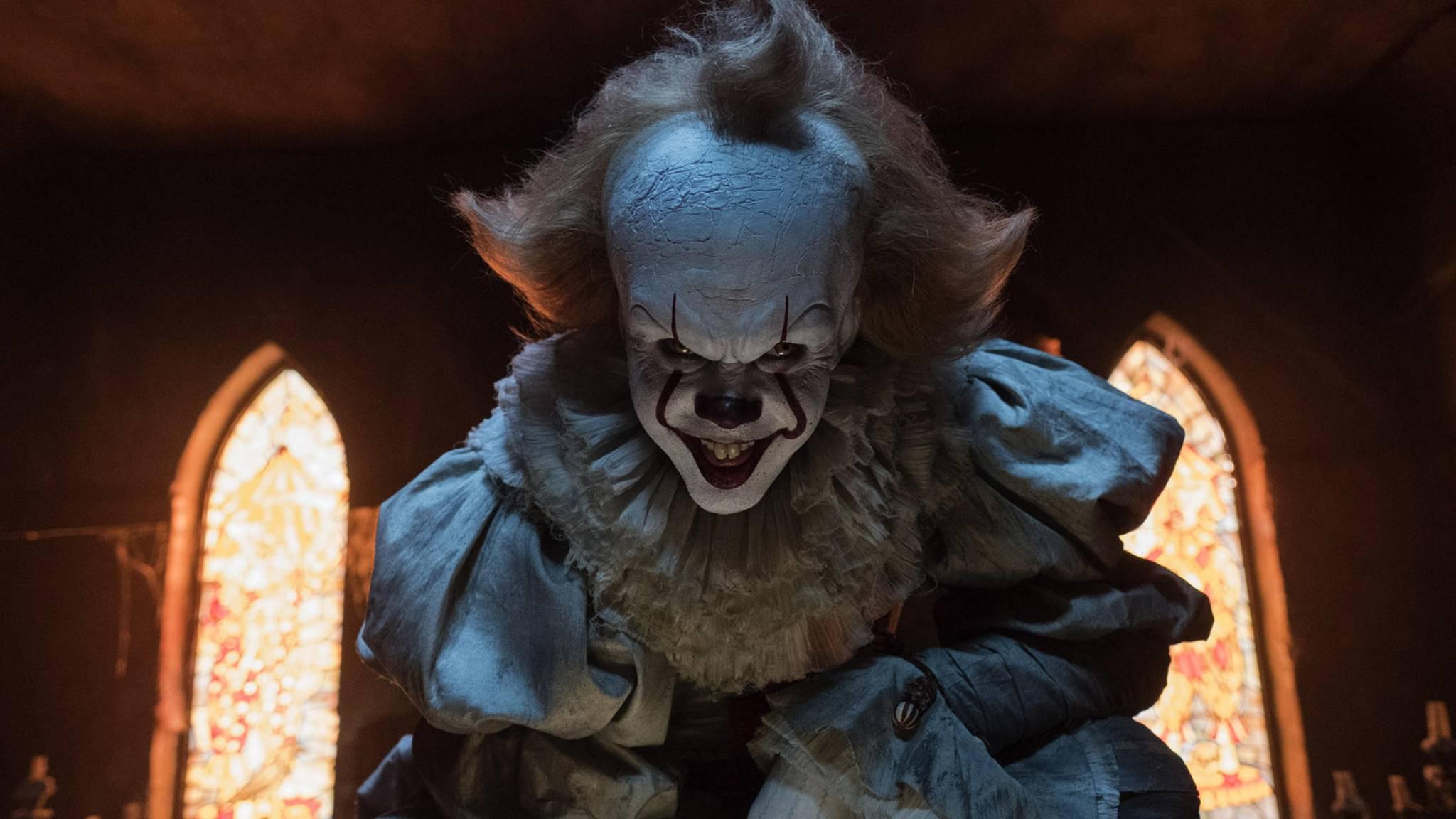 """Horrorclown Pennywise wird auch in """"Es 2"""" wieder für Angst und Schrecken sorgen."""