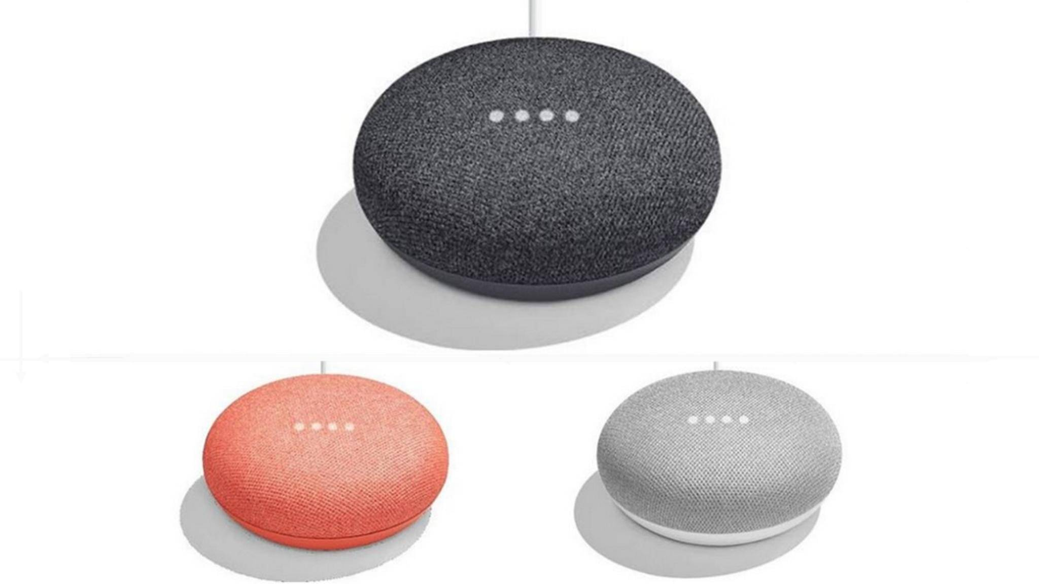 So soll der Google Home Mini aussehen.