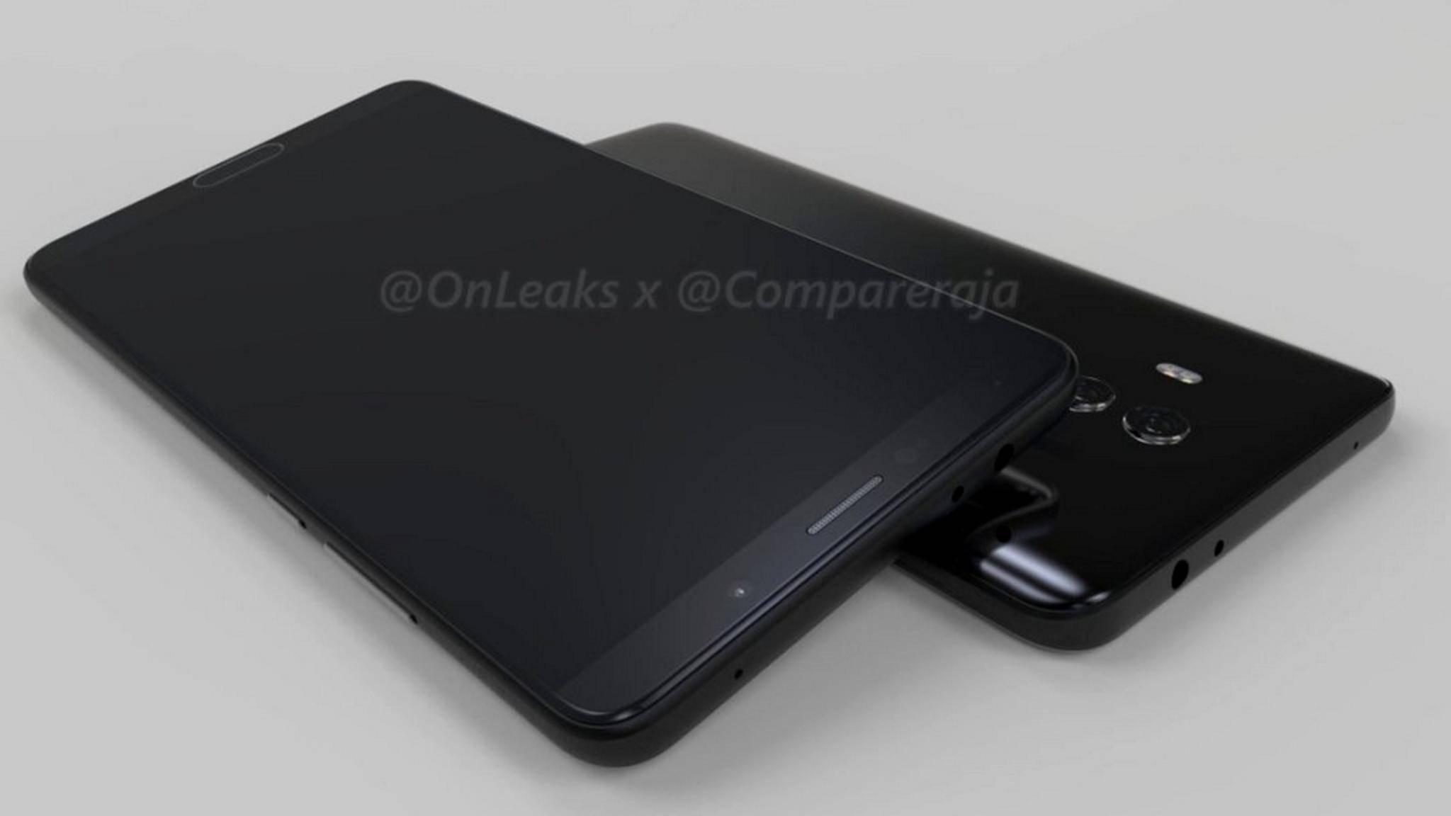 So soll offenbar das Huawei Mate 10 aussehen.