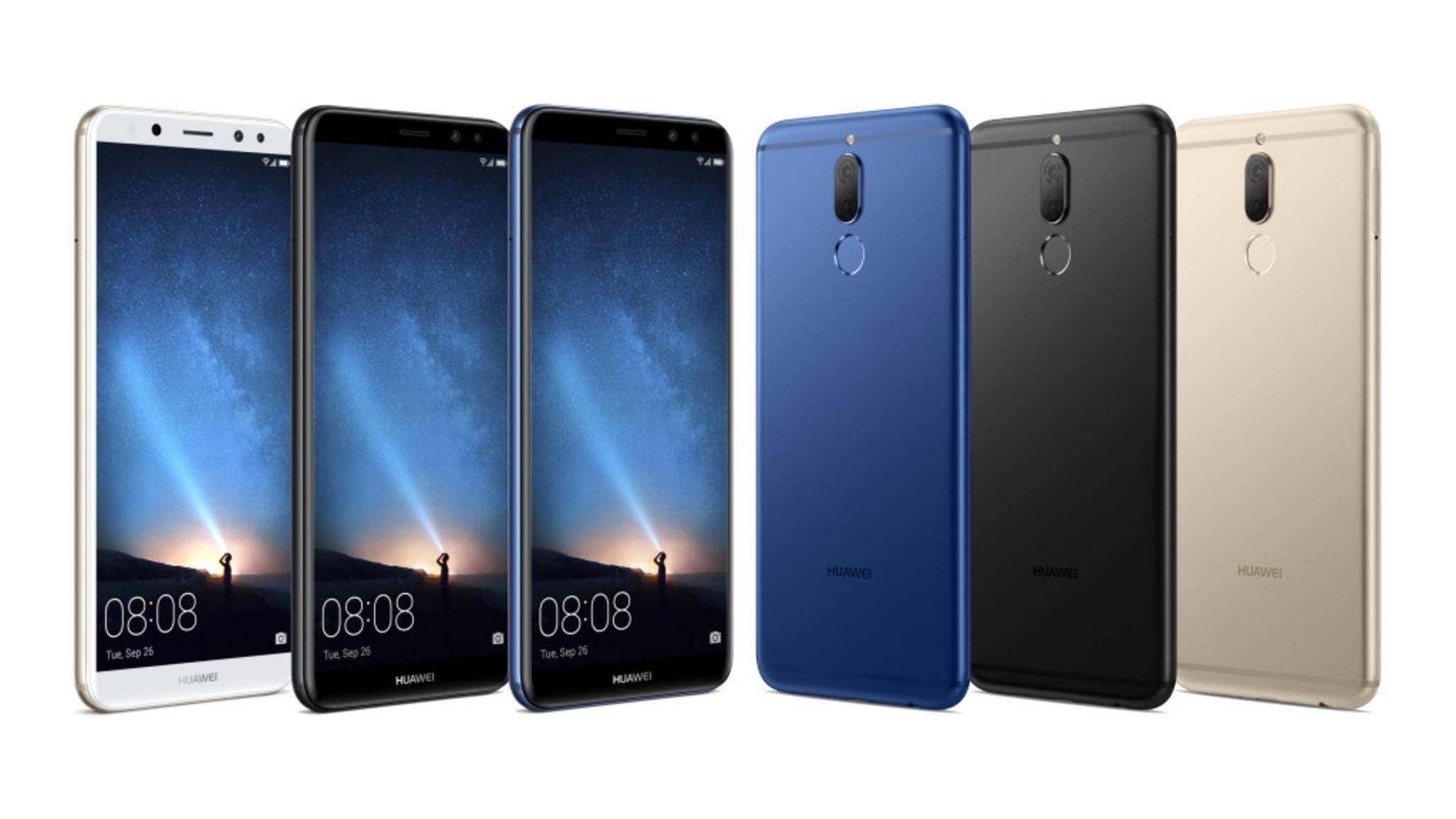So soll es aussehen: Das Huawei Mate 10 Lite.