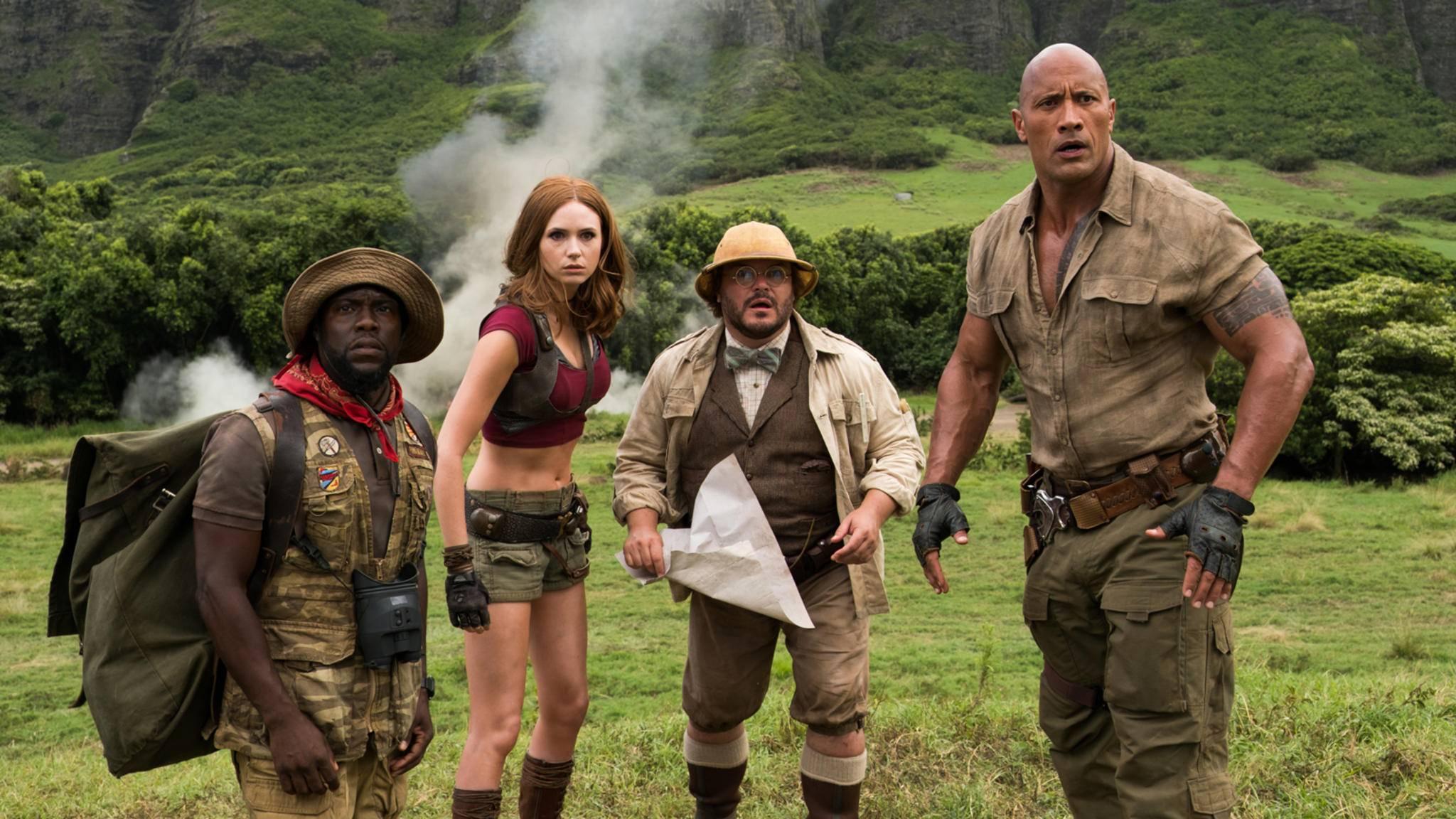 """Da ist was im Anmarsch! Schon morgen soll der neue Trailer zu """"Jumanji 2"""" landen."""