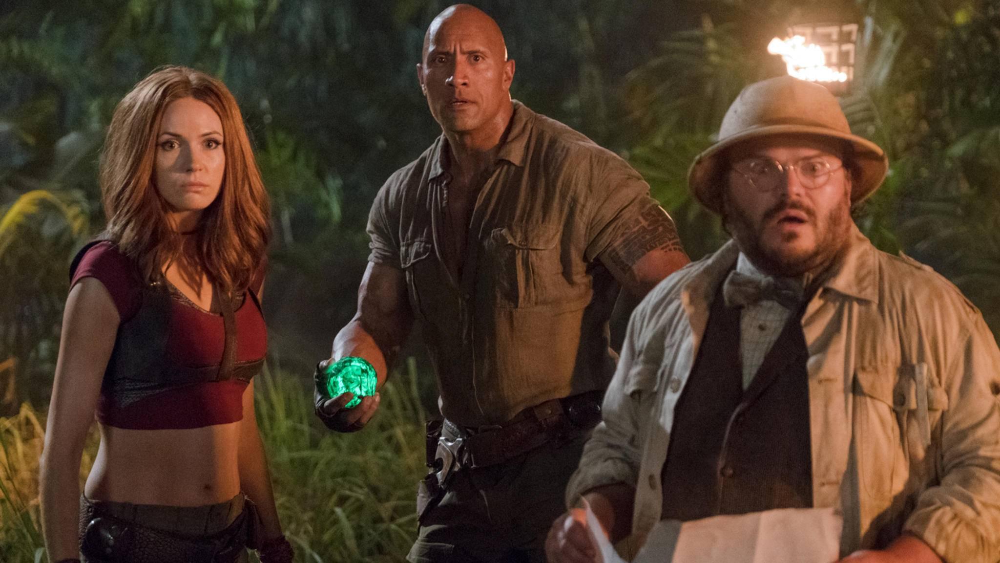 """Die Charaktere von Dwayne Johnson und Co. müssen in """"Jumanji 2"""" einige haarsträubende Abenteuer bestehen."""