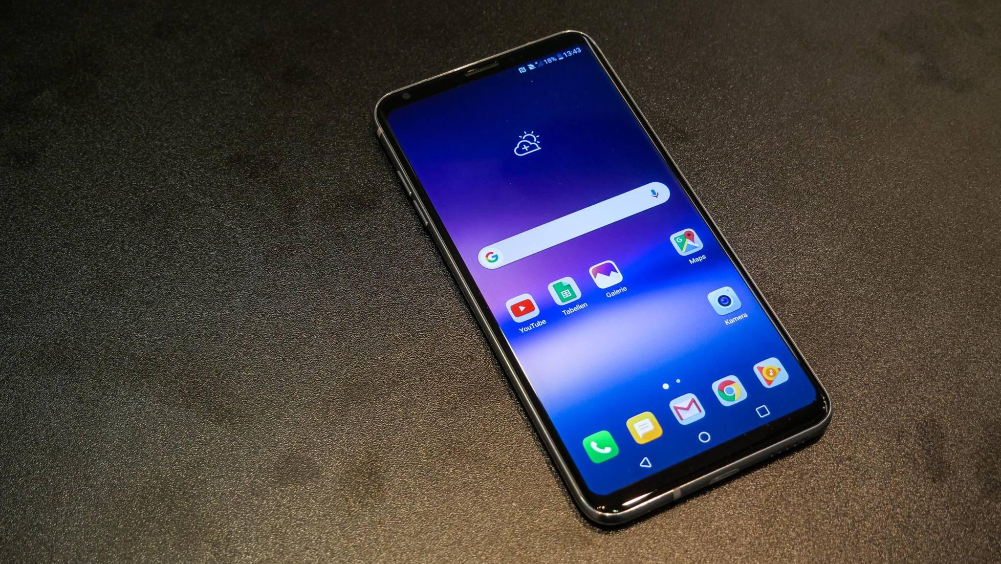 Noch besser als beim LG G6 ist die Screen-to-Body-Ratio beim neuen LG V30 ausgefallen.