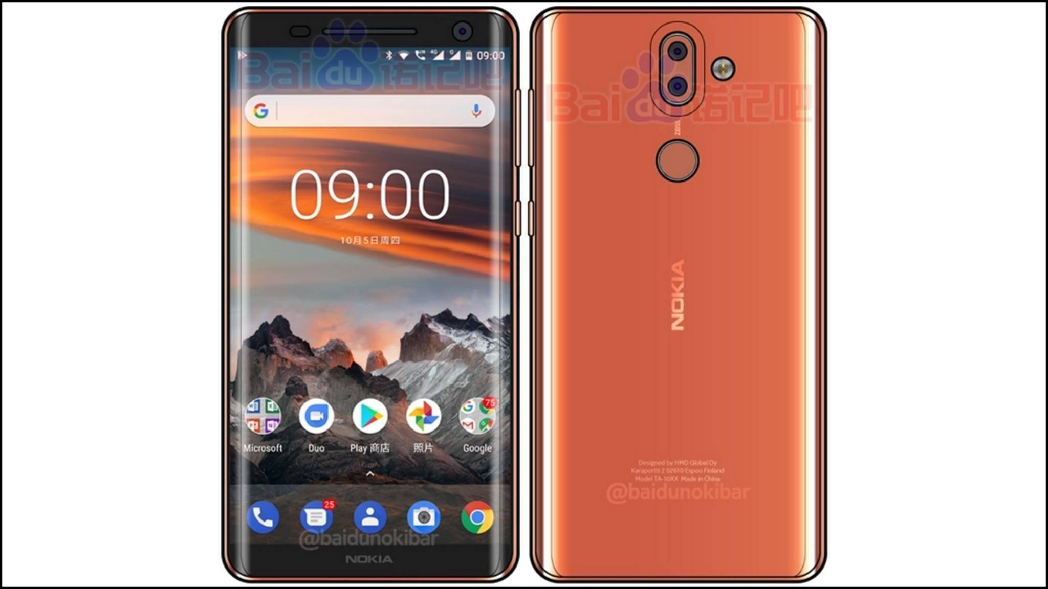 So soll das Nokia 9 in voller Pracht aussehen.