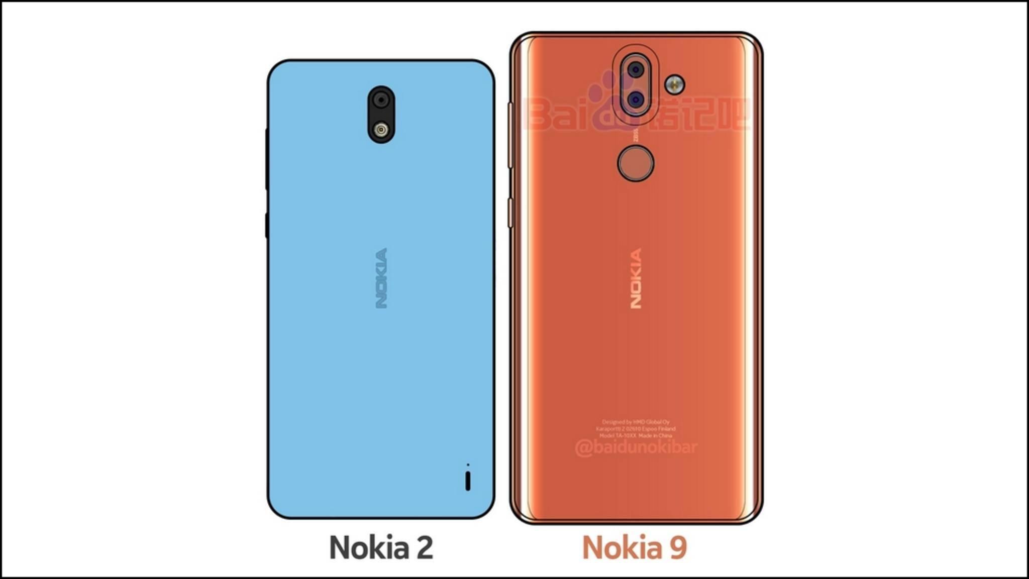 Hier soll das Nokia 9 neben dem Nokia 2 zu sehen sein.