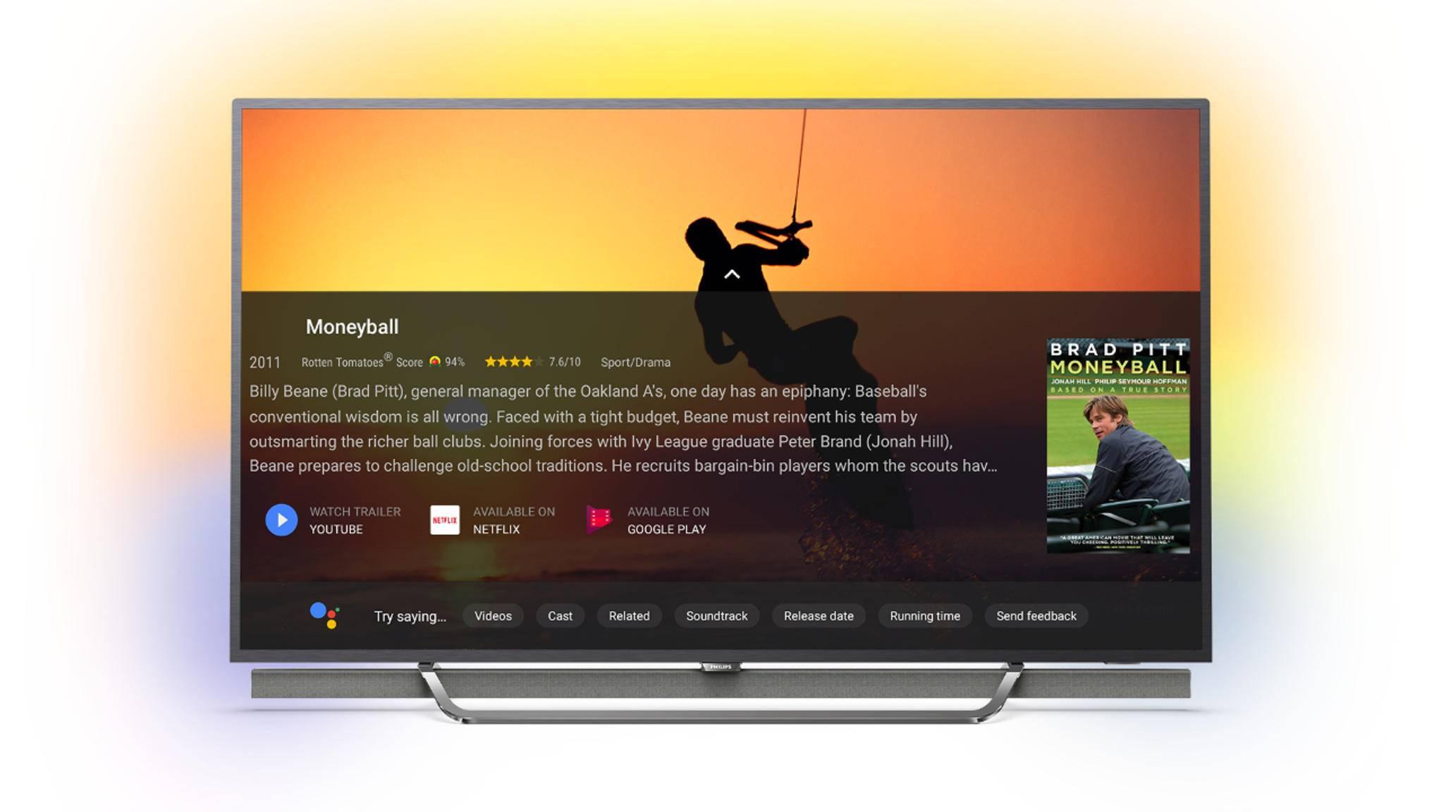 Mit dem Google Assistant kann man ganz einfach einen gewünschten Streaming-Film finden.