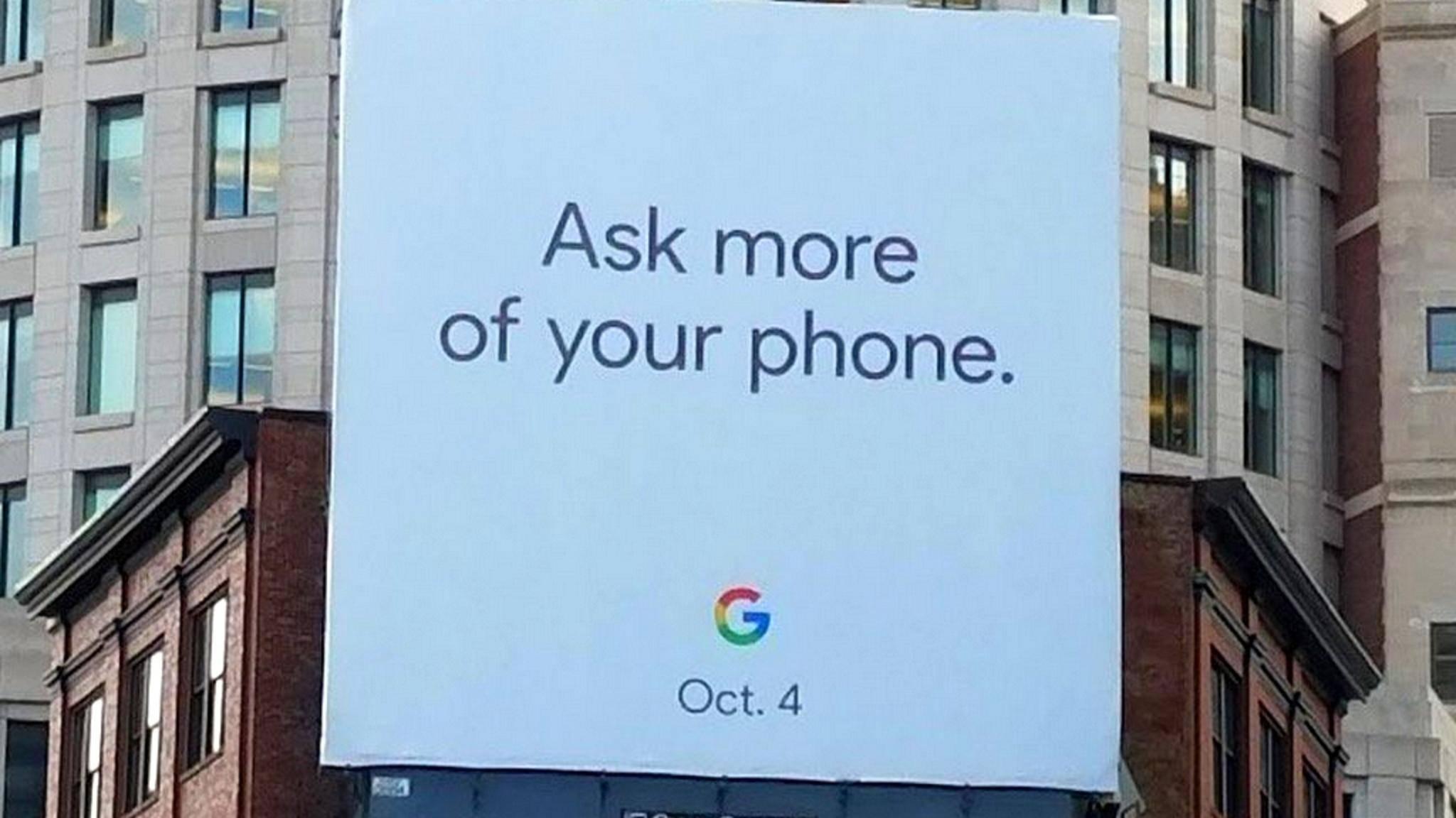 Das Pixel 2 soll am 4. Oktober vorgestellt werden.