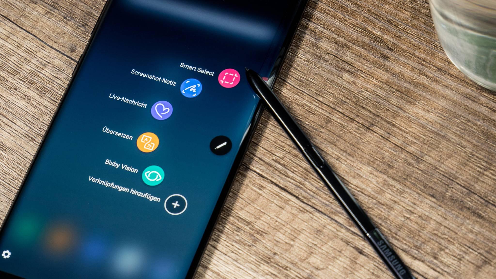 Der Nachfolger des Galaxy Note 8 soll noch keinen Fingerabdrucksensor unter dem Display mitbringen.