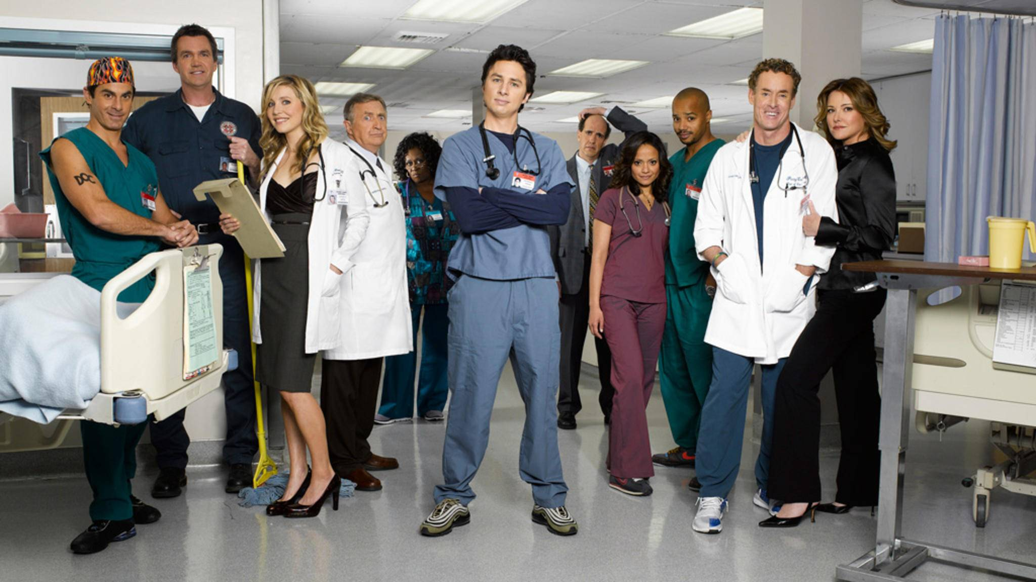 "182 Folgen lang begleiteten die ""Scrubs""-Fans J.D. durch seinen irren Krankenhaus-Alltag."
