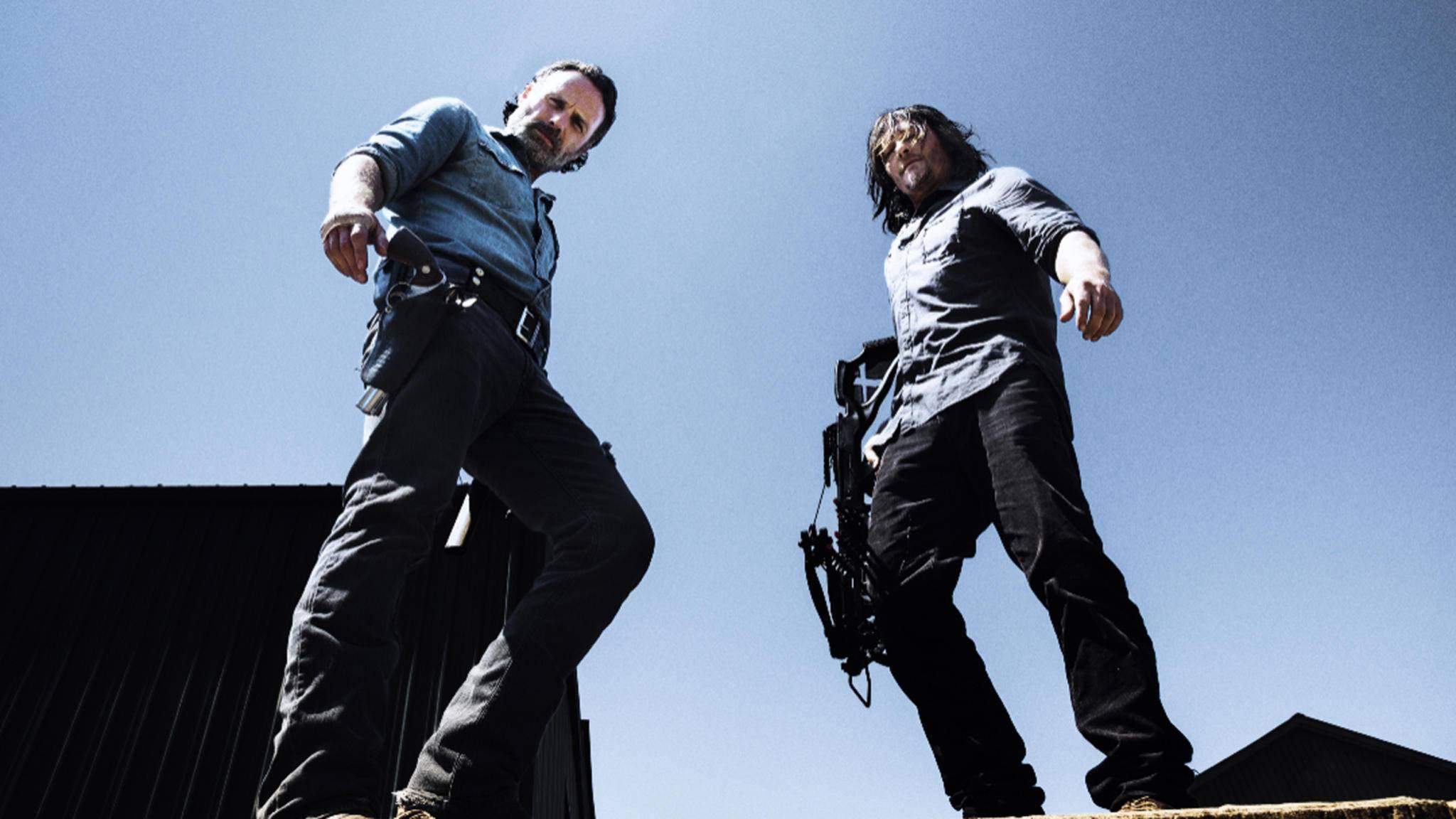 """Kein Ende in Sicht: Rick und Daryl machen sich für die neunte Staffel von """"The Walking Dead"""" warm."""