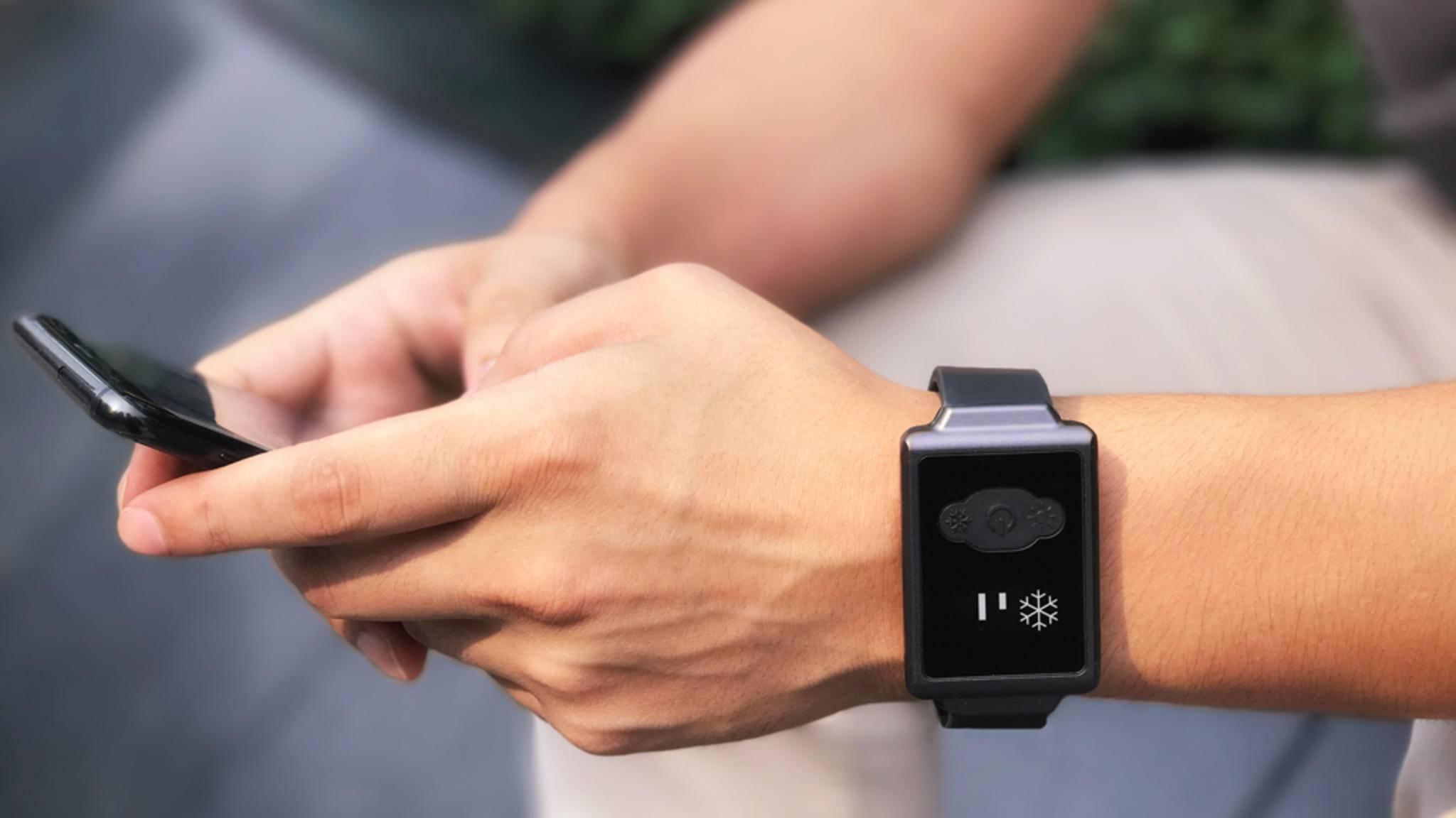 Schlicht aber effektiv: Die Aircon Watch soll die Körpertemperatur in wenigen Minuten regulieren können.