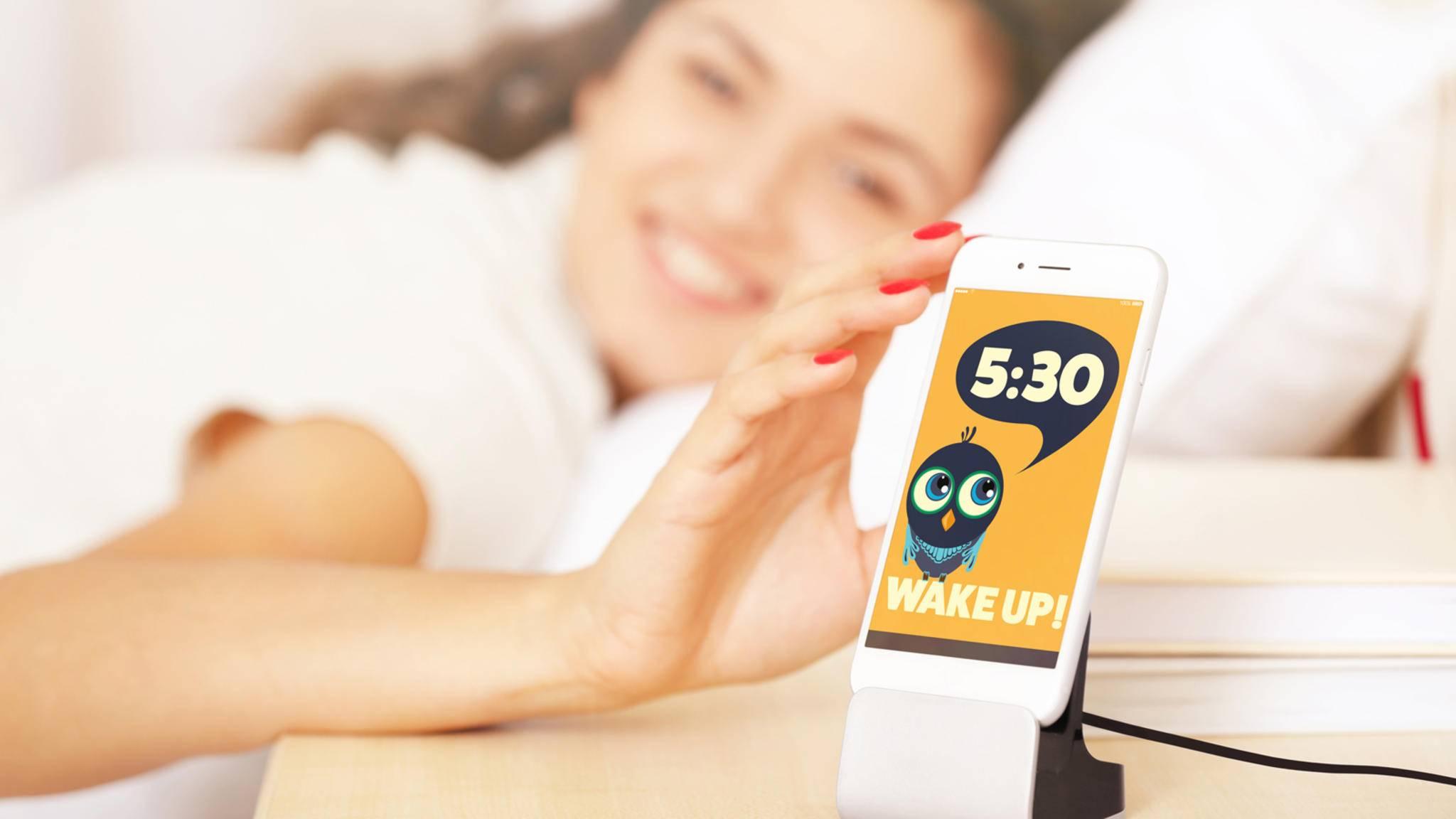 Wecken per Smartphone kann so einfach sein.