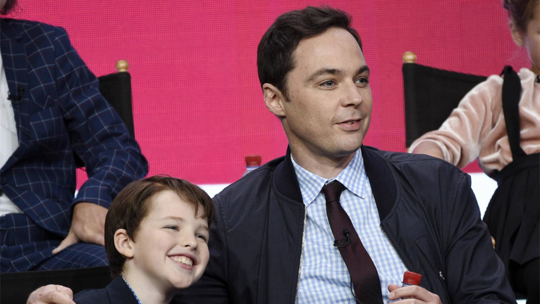 Sheldon-Darsteller unter sich: Iain Armitage (links) und Jim Parsons.