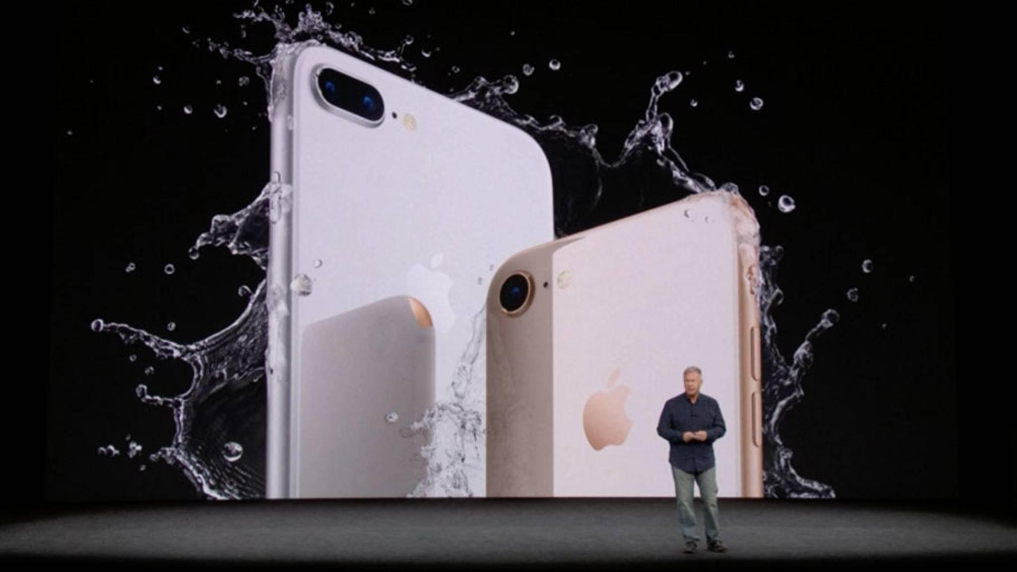 Apple stellt das iPhone 8 und das iPhone 8 Plus vor.
