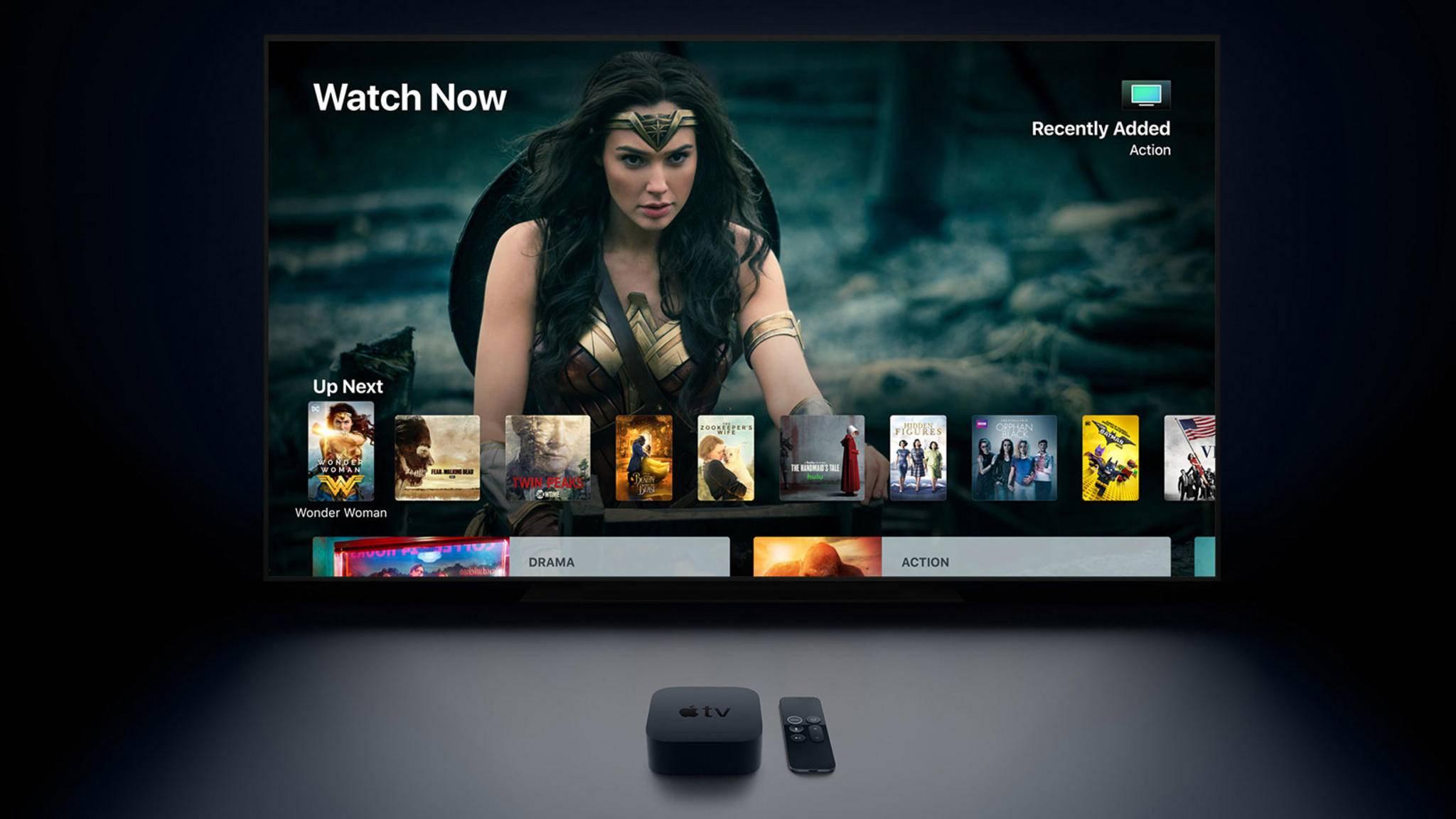 Die größte Neuerung im Vergleich zum Vorgänger: Das Apple TV kann jetzt 4K.