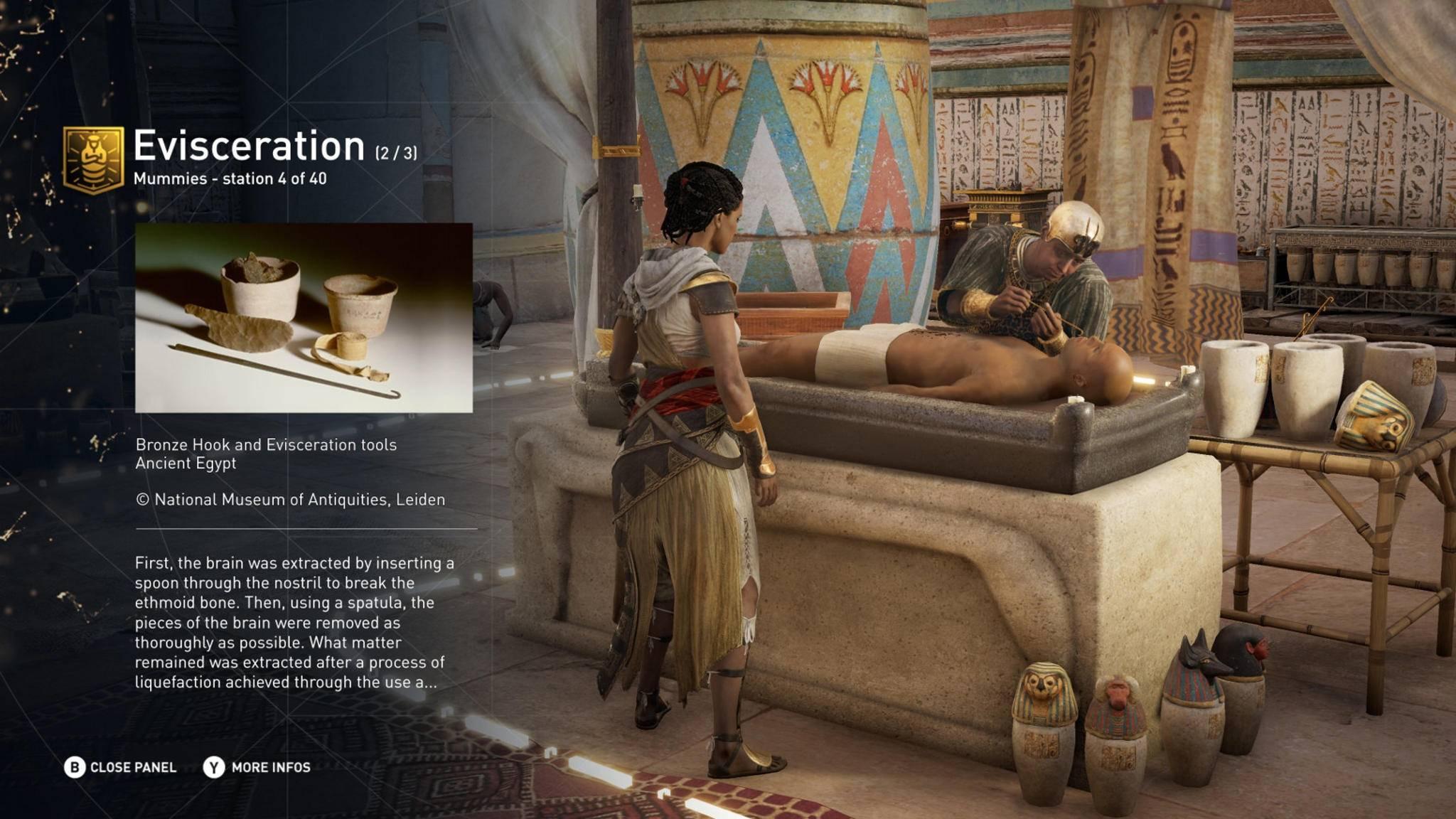 """""""Assassin's Creed: Origins"""": Im neuen Modus lassen sich Infos zu geschichtlichen Hintergründen betrachten."""