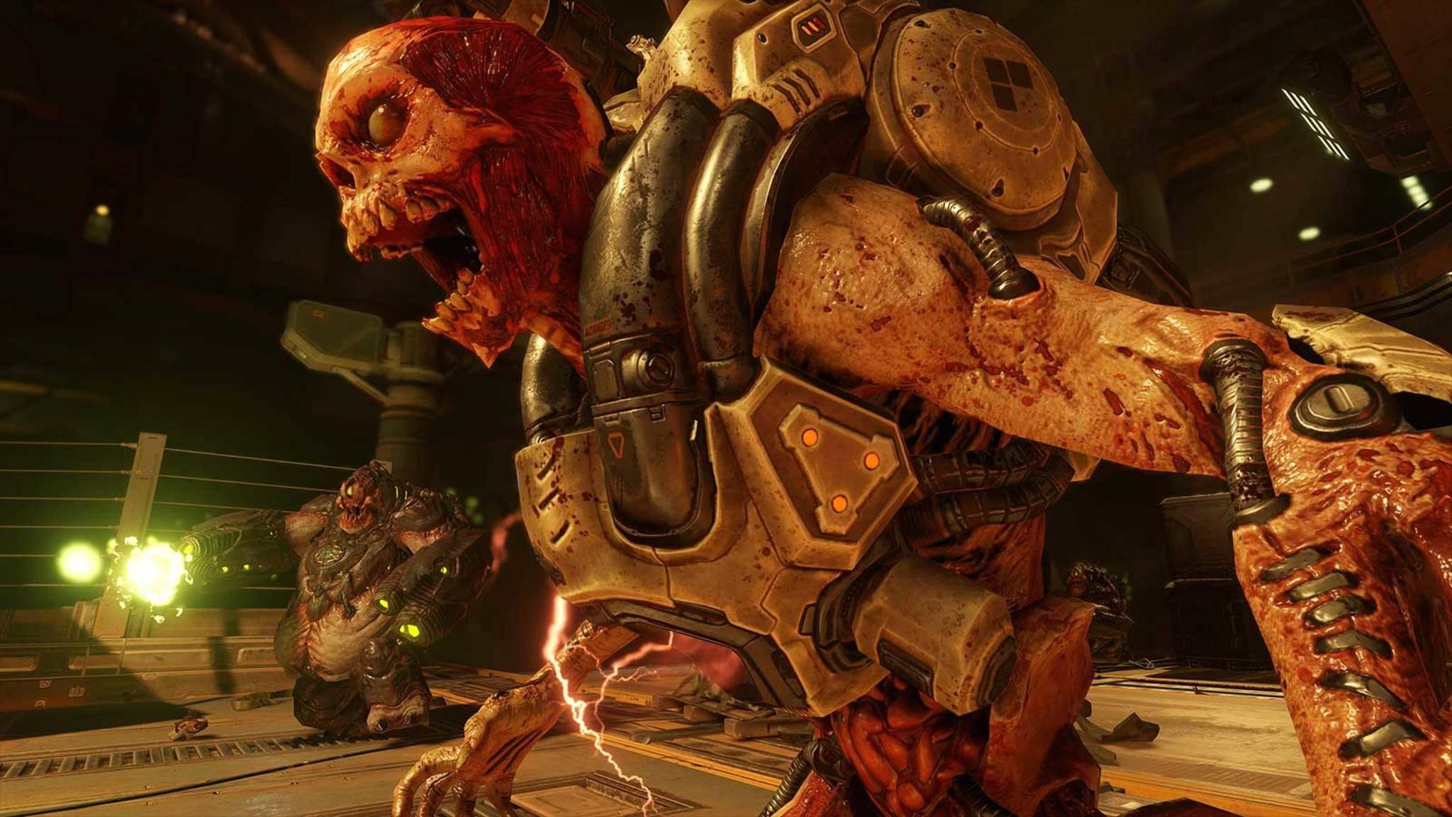 """""""Doom"""": Dieser freundliche Herr wird demnächst auch auf der Nintendo Switch sein Unwesen treiben."""