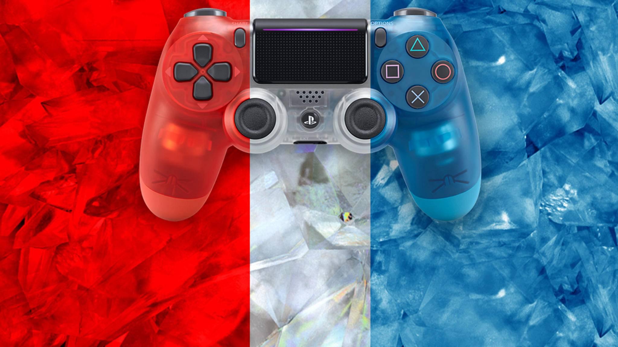 Sony bringt drei neue Crystal-Controller für die PS4 auf den Markt.