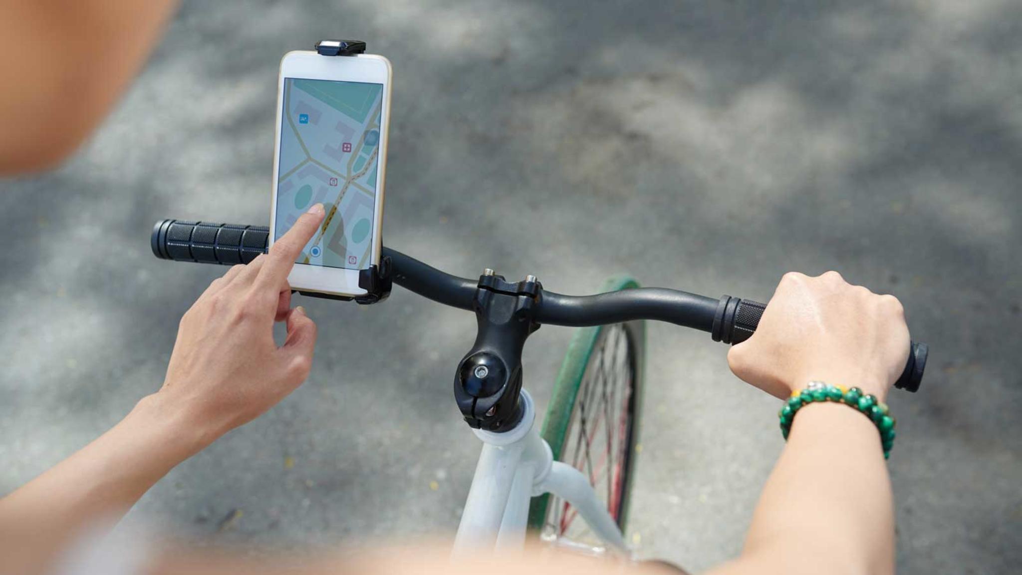 Beim Berechnen der Route muss der Fahrrad-Modus eingestellt werden.