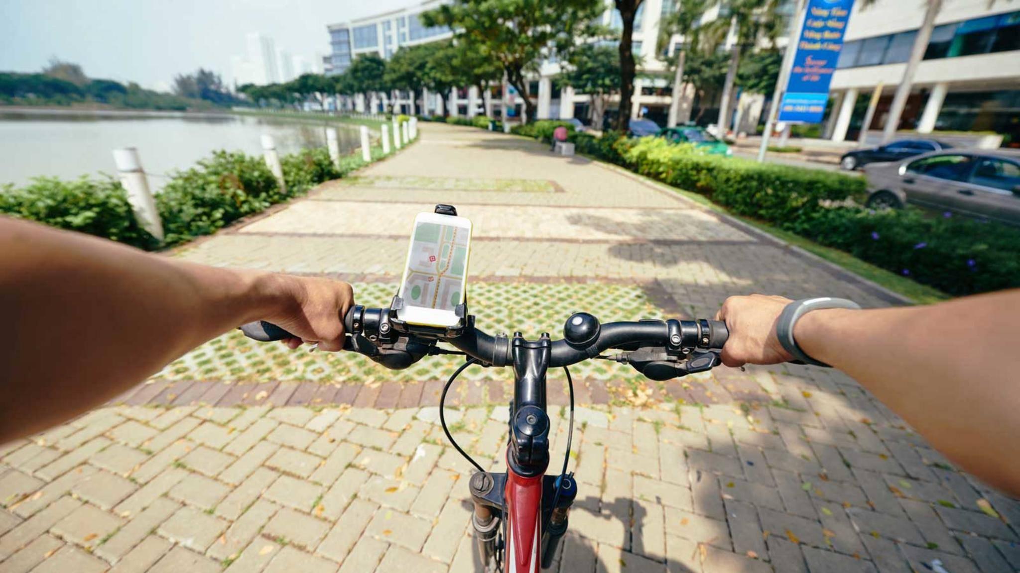 Google Maps eignet sich auch gut zur Navigation auf dem Fahrrad.