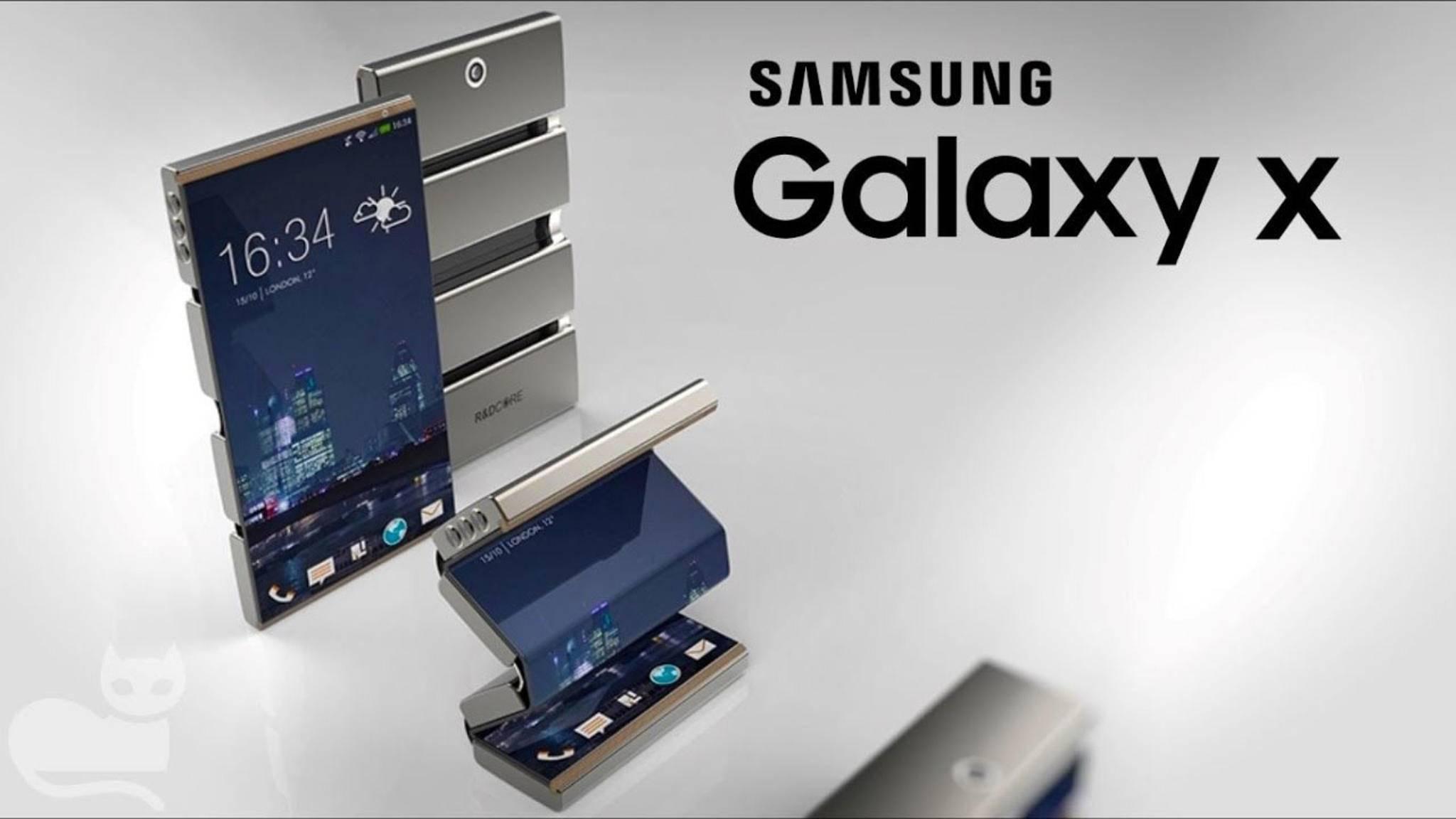 So stellen sich Konzeptdesigner das faltbare Smartphone Galaxy X vor.
