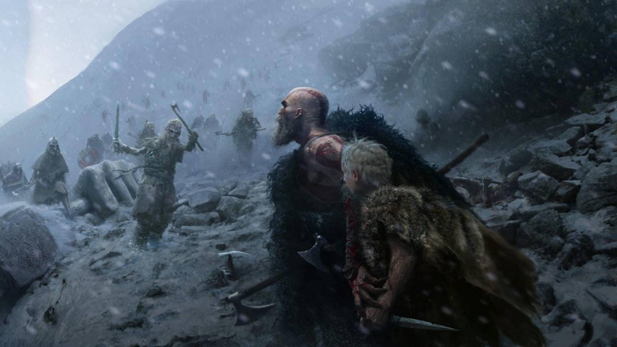 Kratos und Sohn kämpfen im hohen Norden zwischen Eis und Schnee.