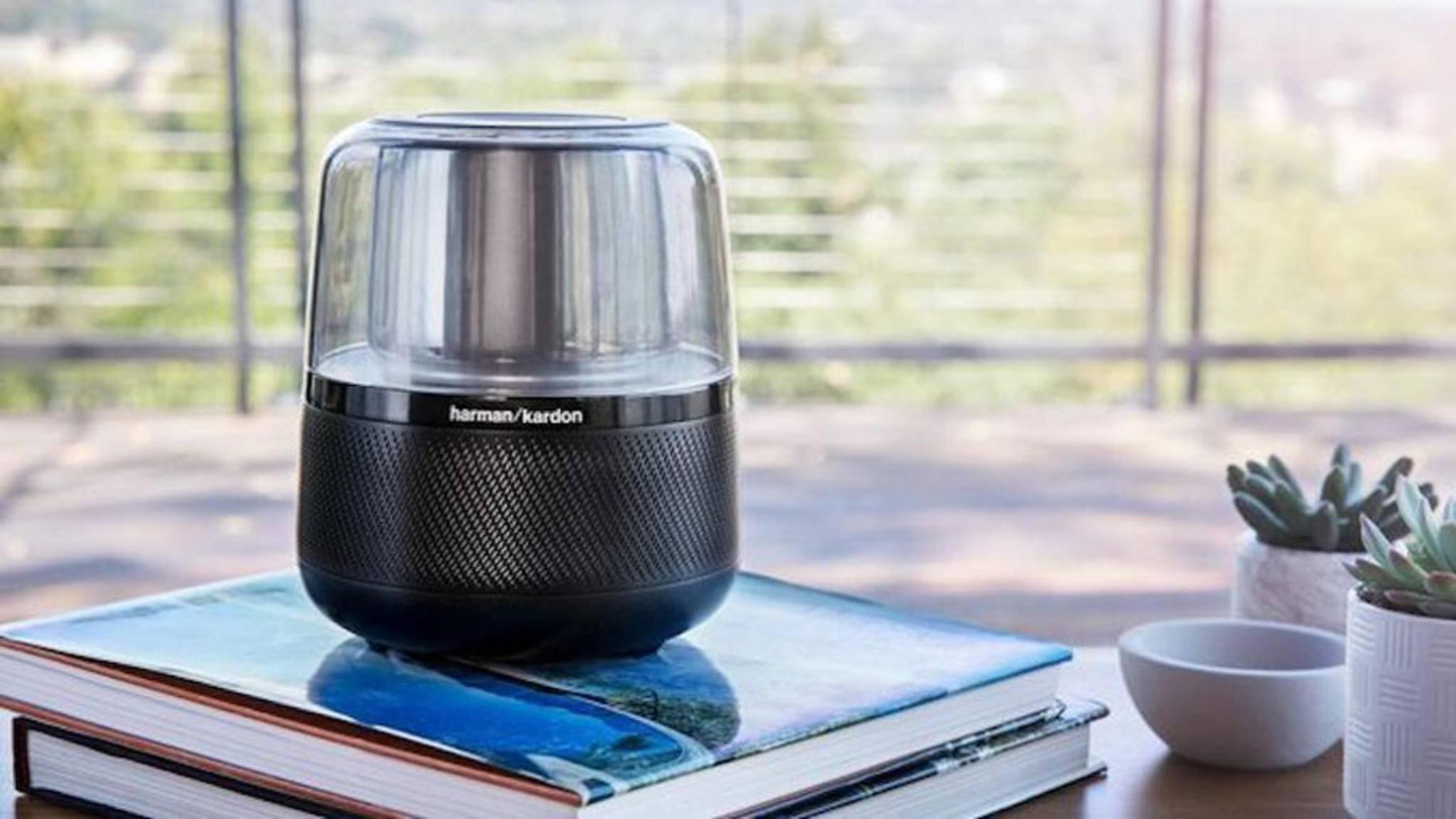 """So sieht ein """"ikonisches Design"""" laut Harman Kardon aus: Der neue Smart Speaker Allure mit Alexa."""