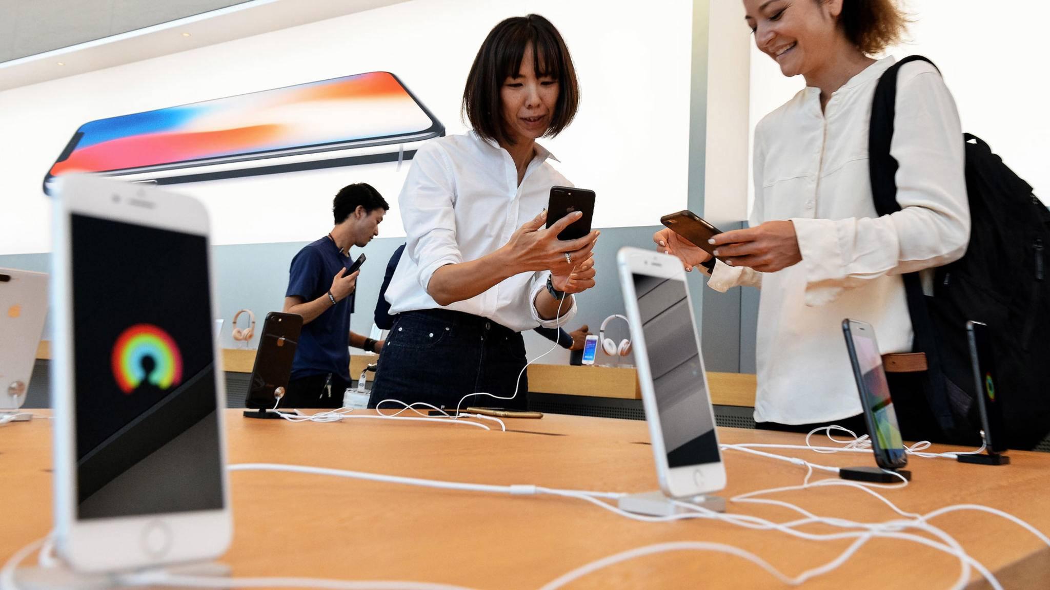 Der Andrang auf das iPhone 8 hält sich in Grenzen.