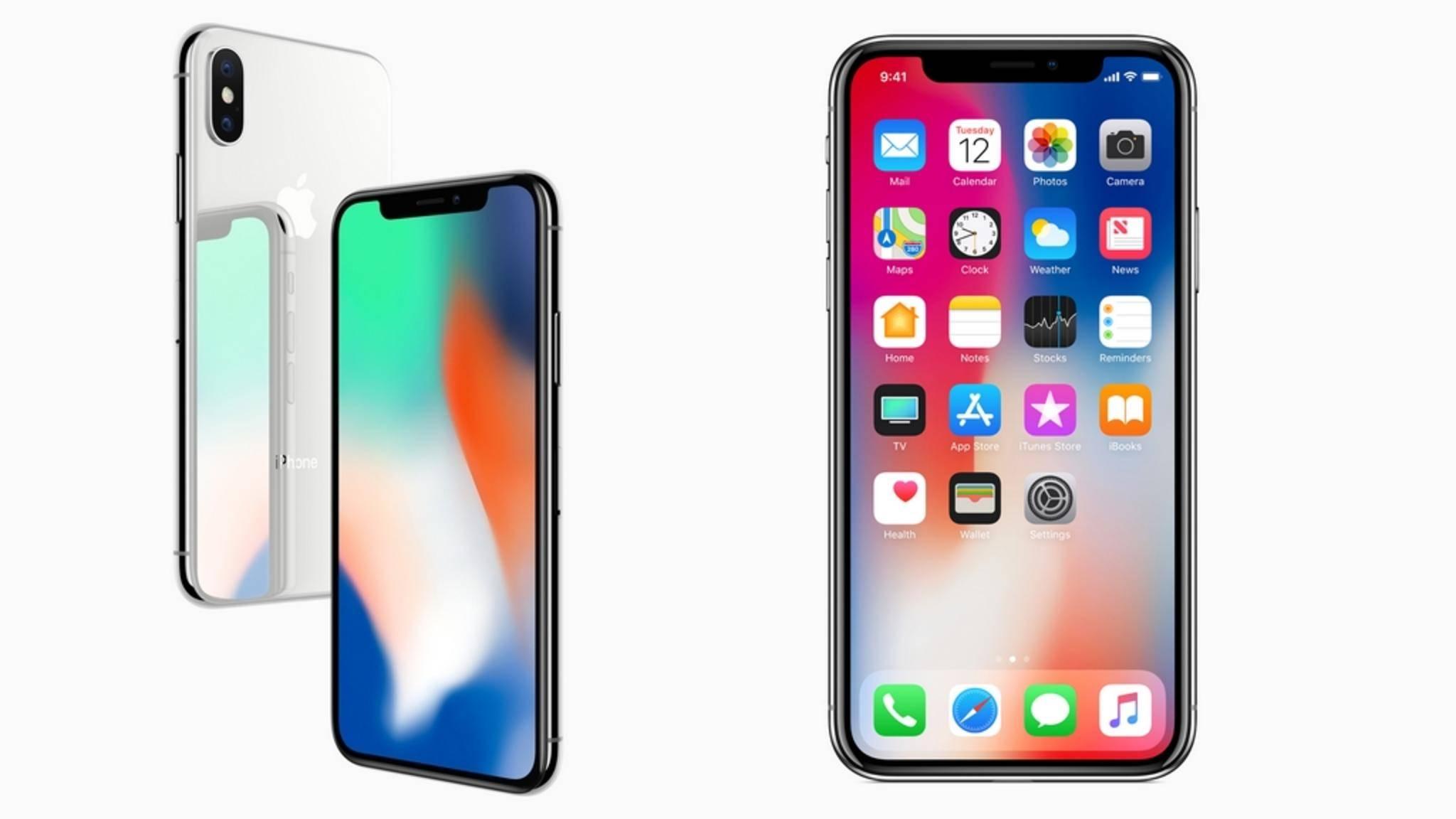 Die Vorderseite des iPhone X besteht fast nur aus Display.