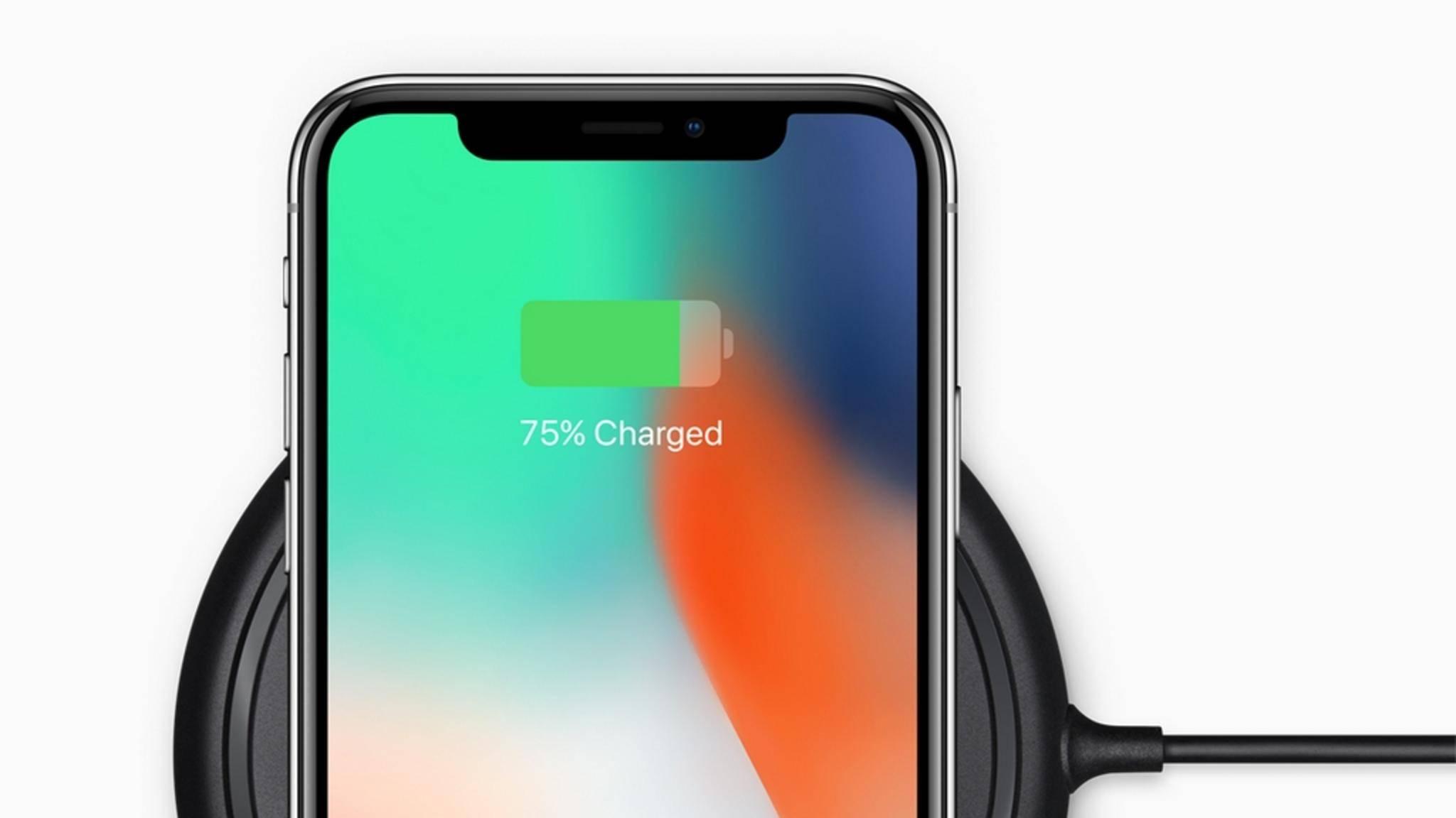Das iPhone X kann nicht nur Wireless, sondern auch Fast Charging.