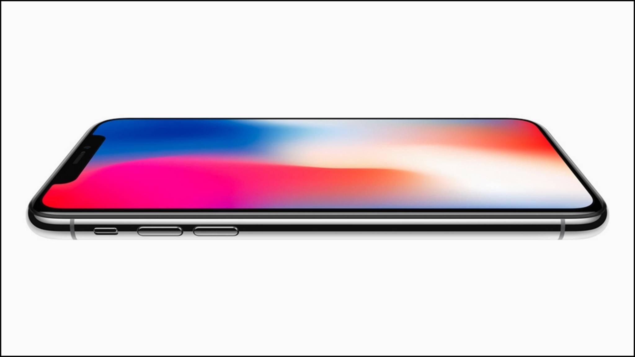 Der Screen des iPhone X erreicht nicht die gleiche Helligkeit wie jener im Samsung Galaxy S8.