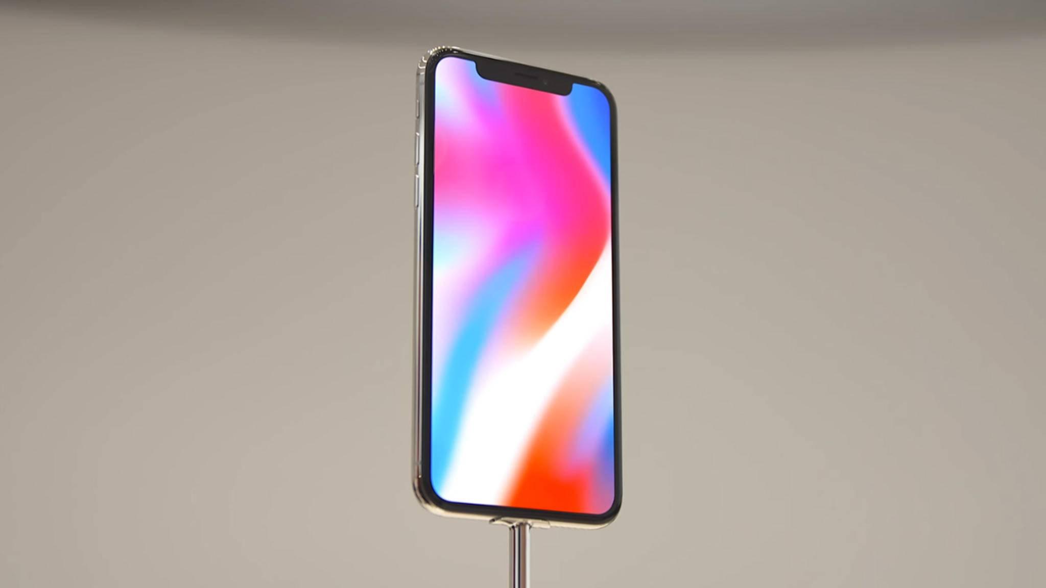 Trotz seines fast randlosen Designs fällt der Screen des iPhone X tatsächlich kleiner aus als beim iPhone 8 Plus.