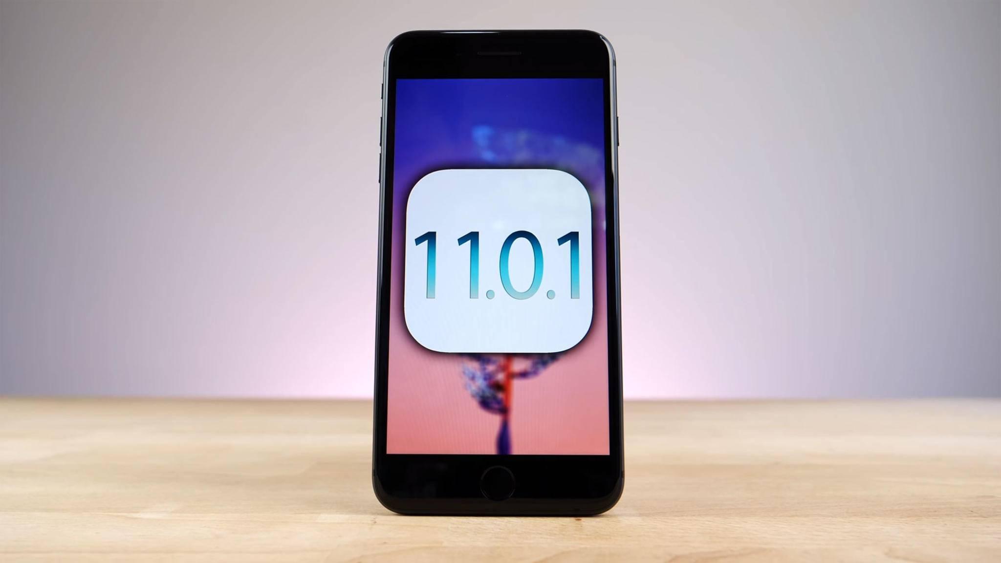 Mit iOS 11.0.1 soll Bugfixes und Verbesserungen für das iPhone mitbringen.