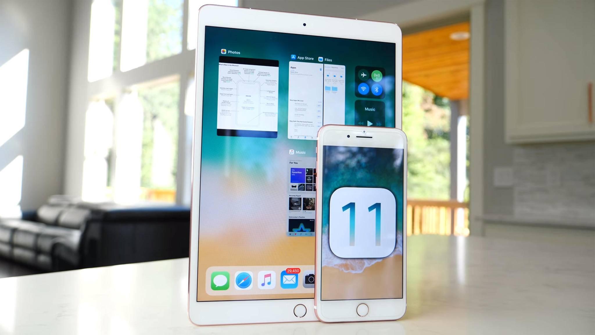 Verbreitet sich schnell, aber doch deutlich langsamer als iOS 10: das aktuelle Betriebssystem iOS 11.