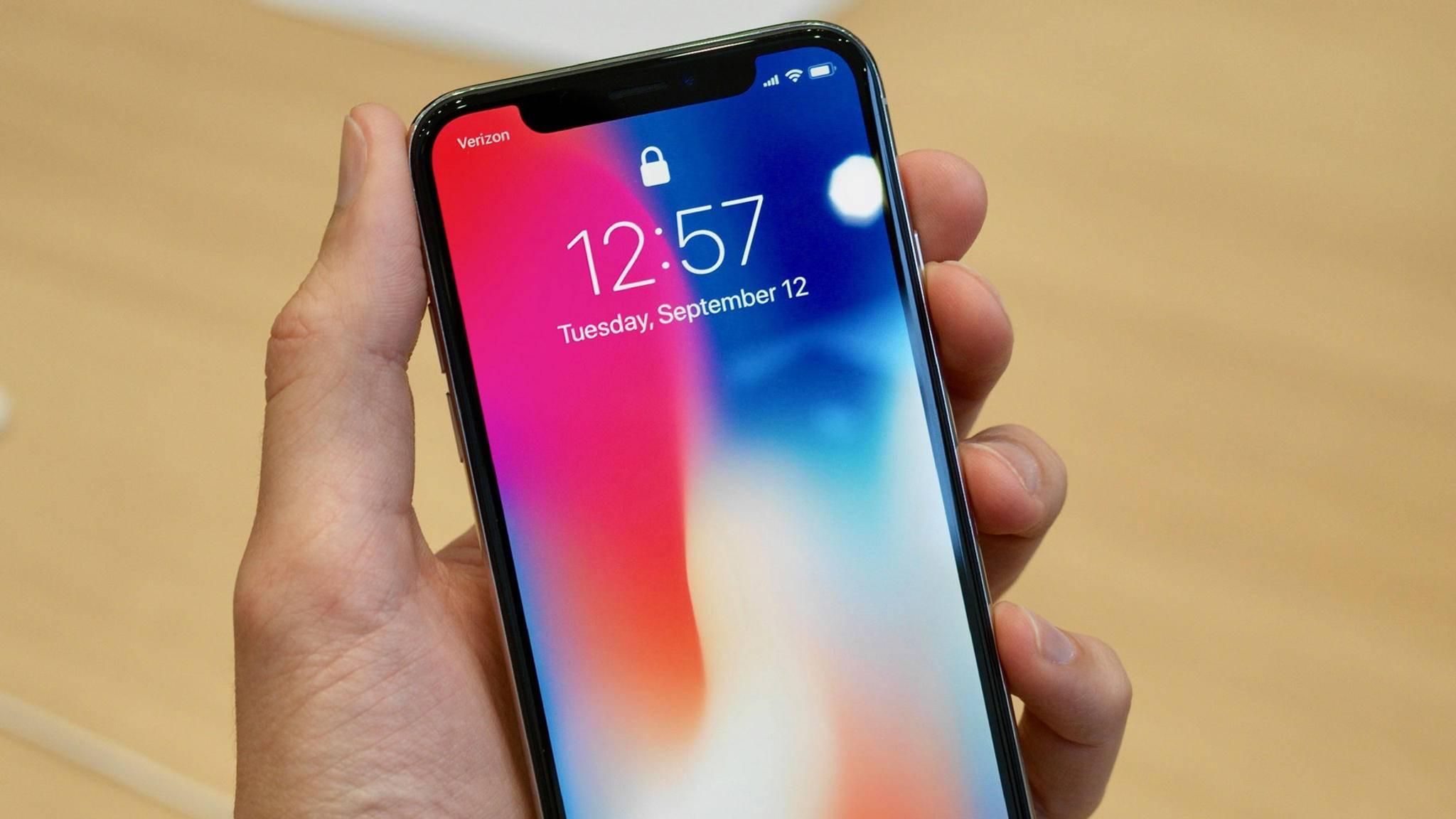 Die Screen-to-Body-Ratio des iPhone X weiß zu beeindrucken.
