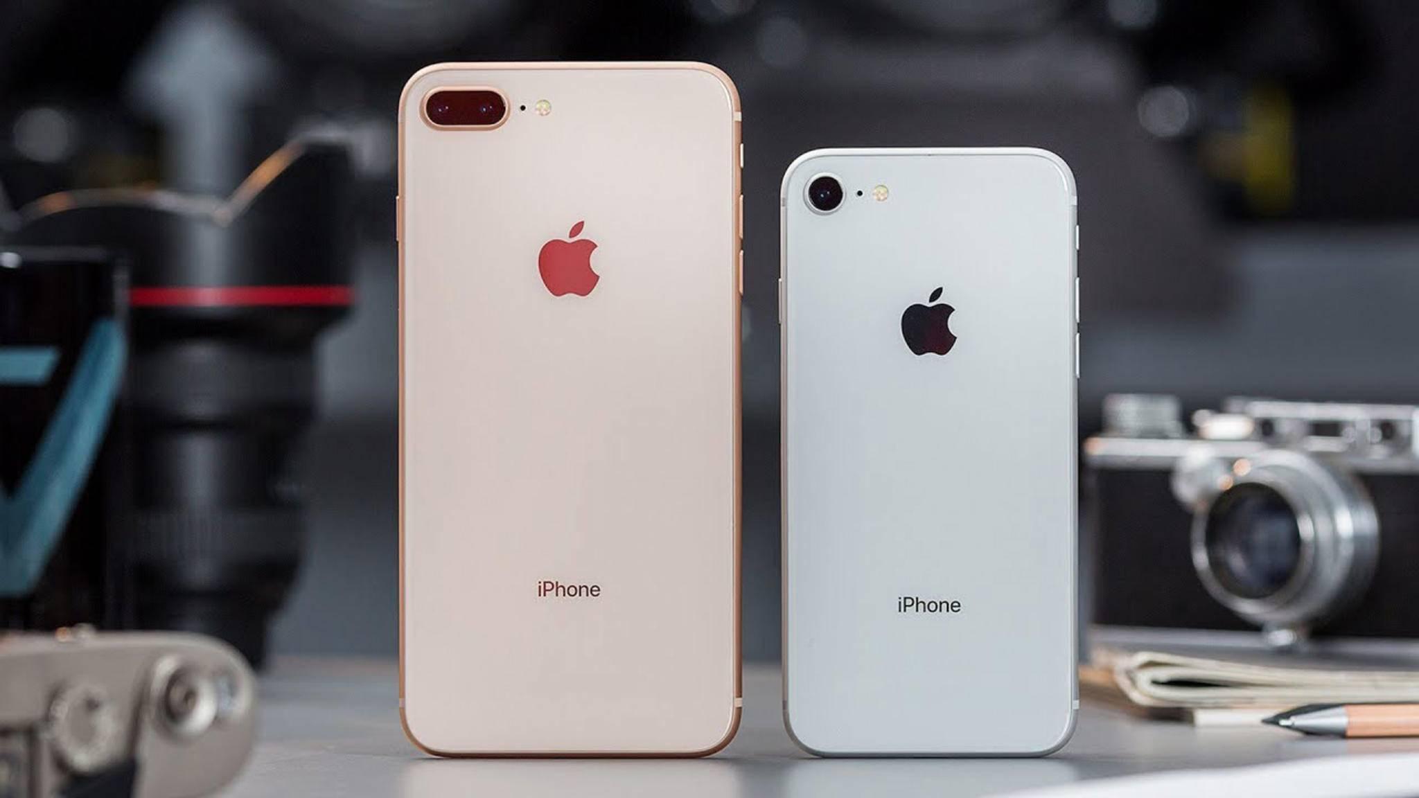 Das iPhone 8 Plus (links) mit Dual-Kamera, das iPhone 8 ohne Dual-Cam.