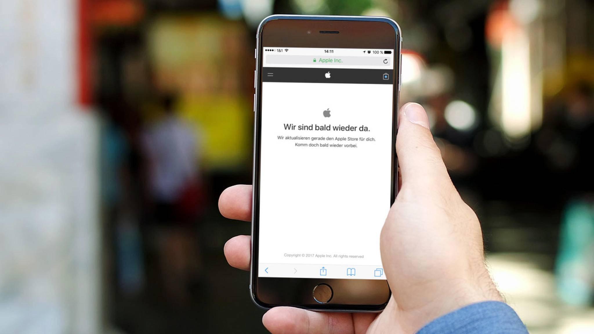 Es geht los: Apple aktualisiert seinen Store und wird kurz nach der Keynote die neuen iPhones online stellen.