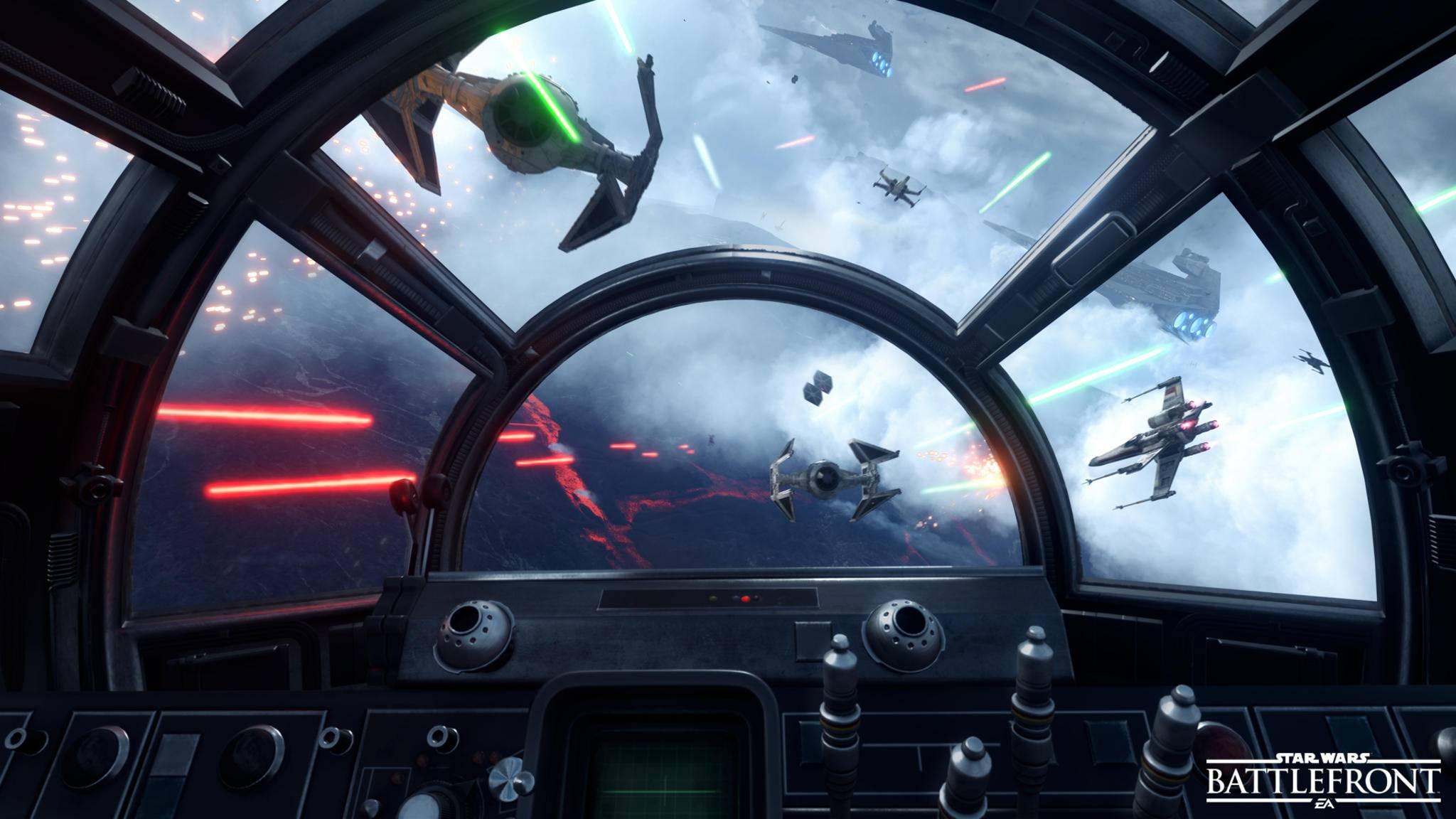 """Mit den Inhalten des Season's Pass lassen sich in """"Star Wars: Battlefront"""" auch Raumschlachten schlagen."""